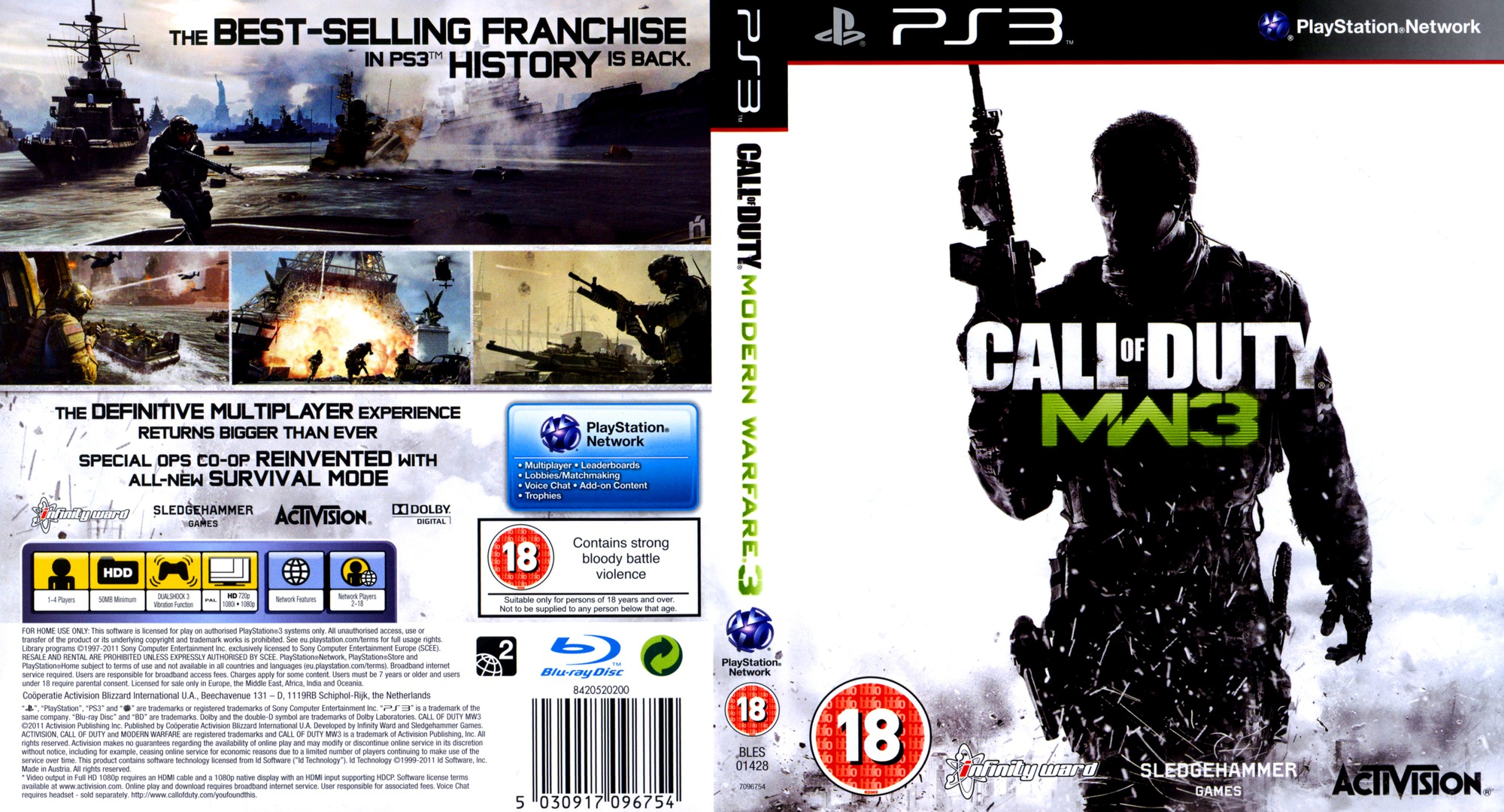 Call of Duty: Modern Warfare 3 Array coverfullHQ (BLES01428)
