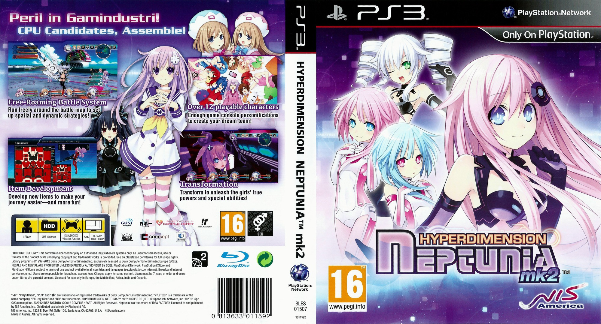 Hyperdimension Neptunia mk2 PS3 coverfullHQ (BLES01507)