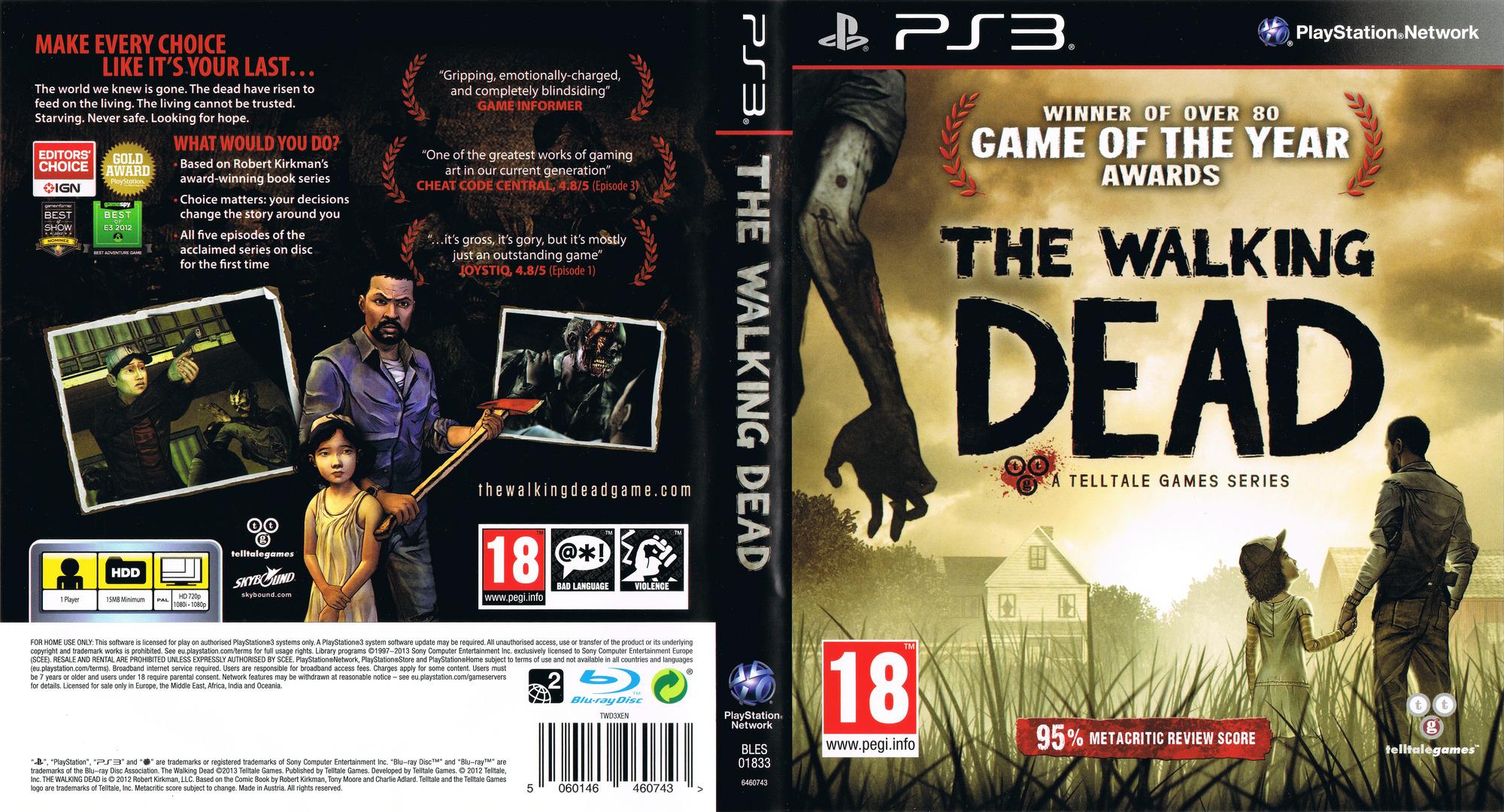 The Walking Dead: A Telltale Games Series PS3 coverfullHQ (BLES01833)