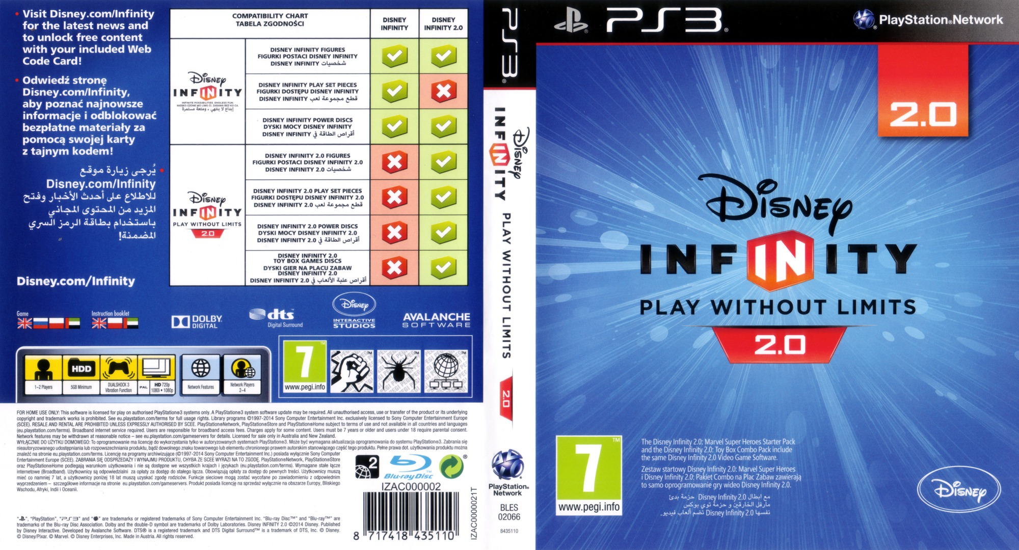 Disney Infinity: Marvel Super Heroes - 2.0 Edition PS3 coverfullHQ (BLES02066)