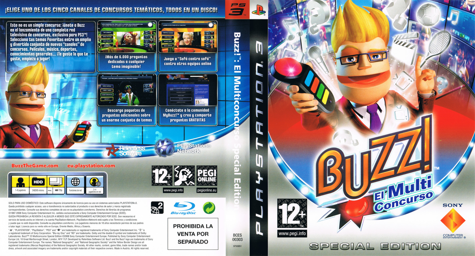 Buzz! El MultiConcurso - Special Edition PS3 coverfullHQ (BCES00303)