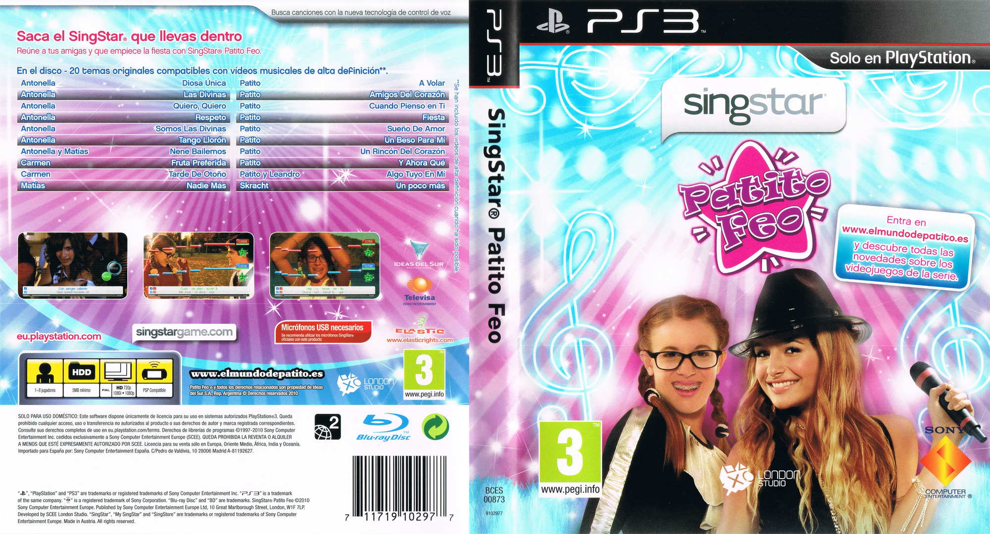 SingStar Patito Feo PS3 coverfullHQ (BCES00873)