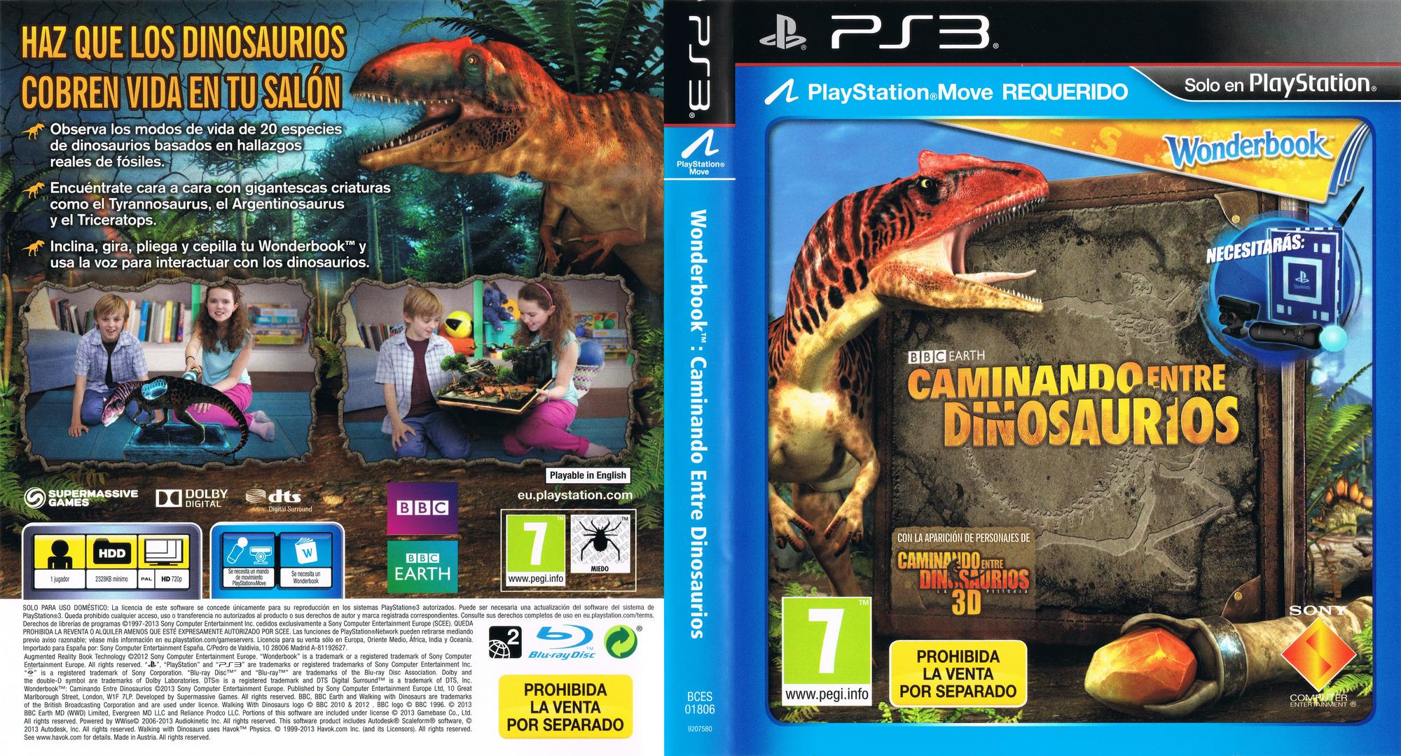 Wonderbook: Caminando entre Dinosaurios PS3 coverfullHQ (BCES01806)