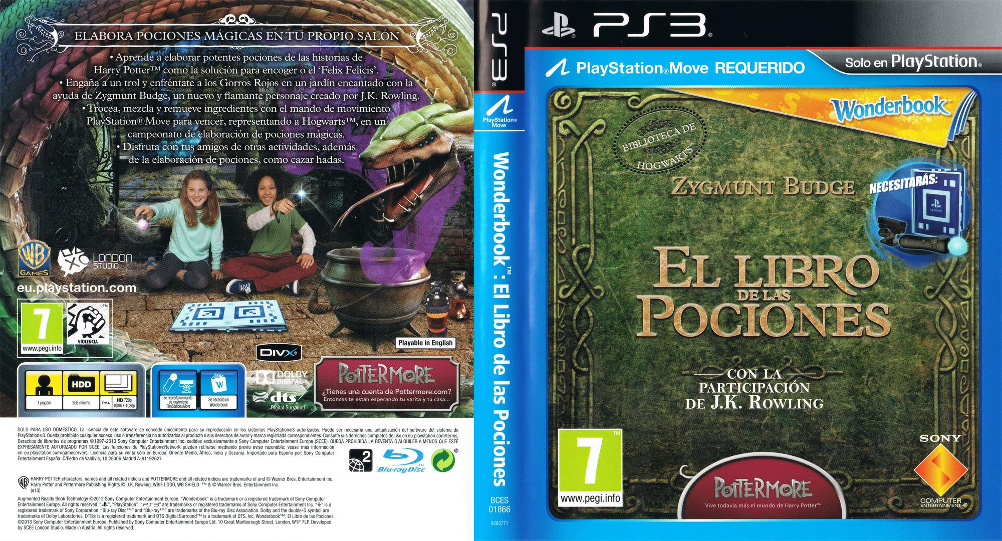 Wonderbook: El Libro de las Pociones PS3 coverfullHQ (BCES01866)