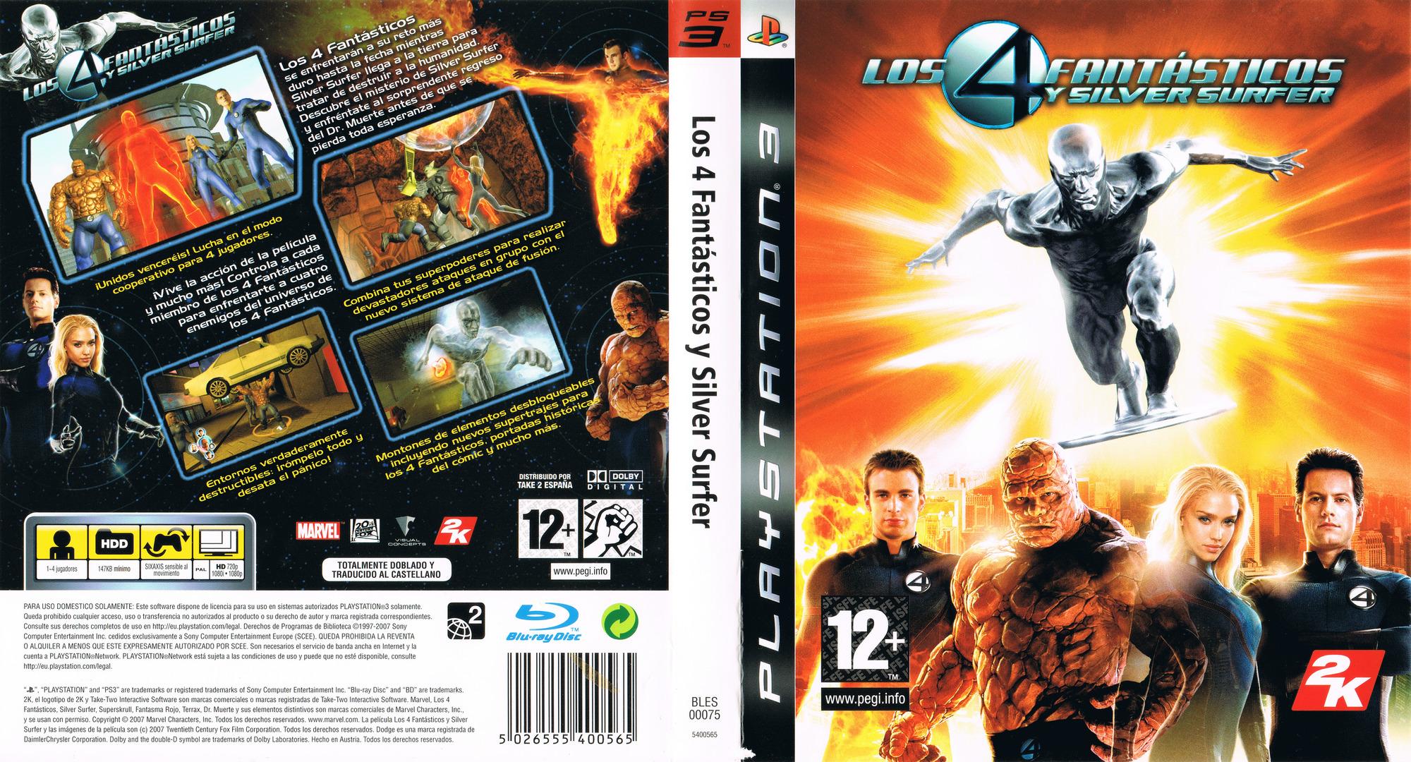 Los 4 Fantásticos y Silver Surfer PS3 coverfullHQ (BLES00075)