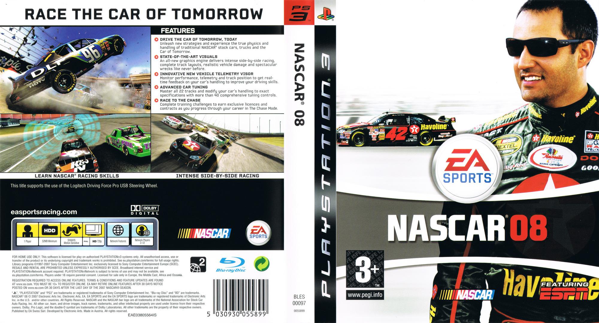Nascar Racing Games >> BLES00097 - NASCAR 08