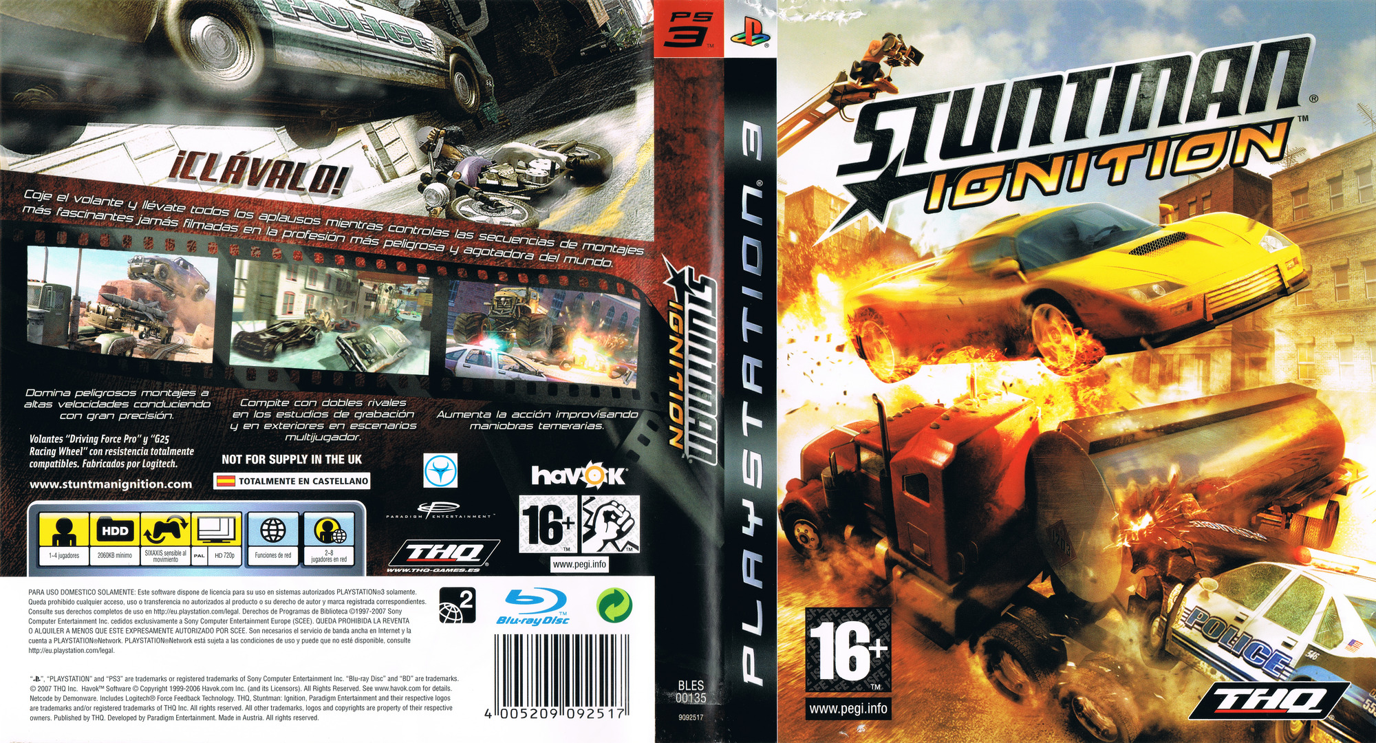 Stuntman: Ignition PS3 coverfullHQ (BLES00135)