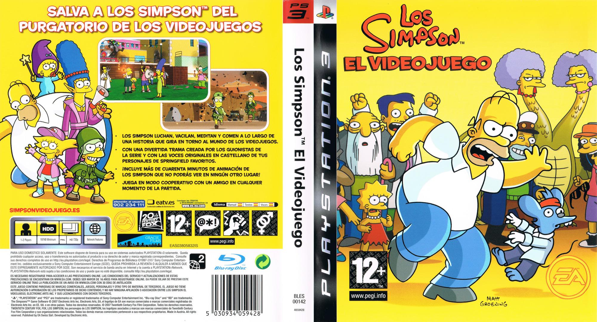 Los Simpsons: El Videojuego PS3 coverfullHQ (BLES00142)