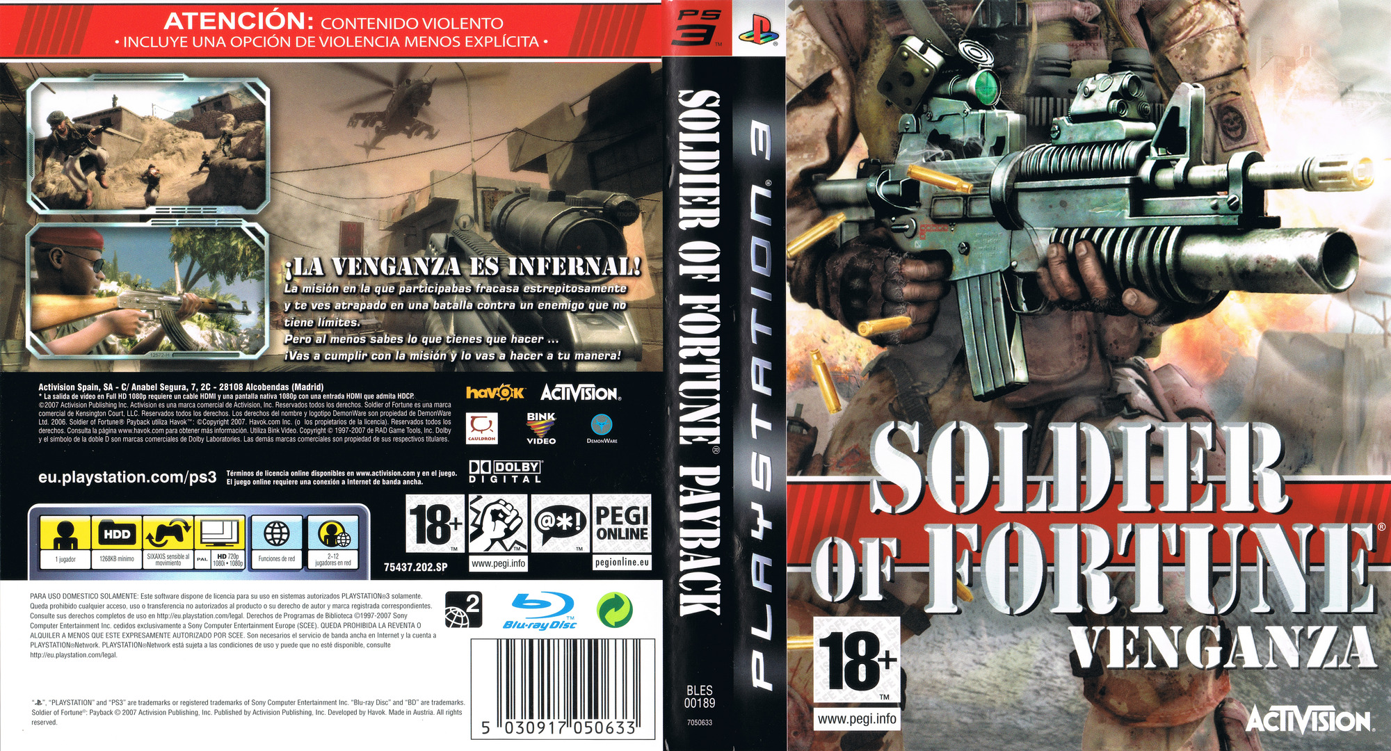 Soldier of Fortune: Venganza PS3 coverfullHQ (BLES00189)