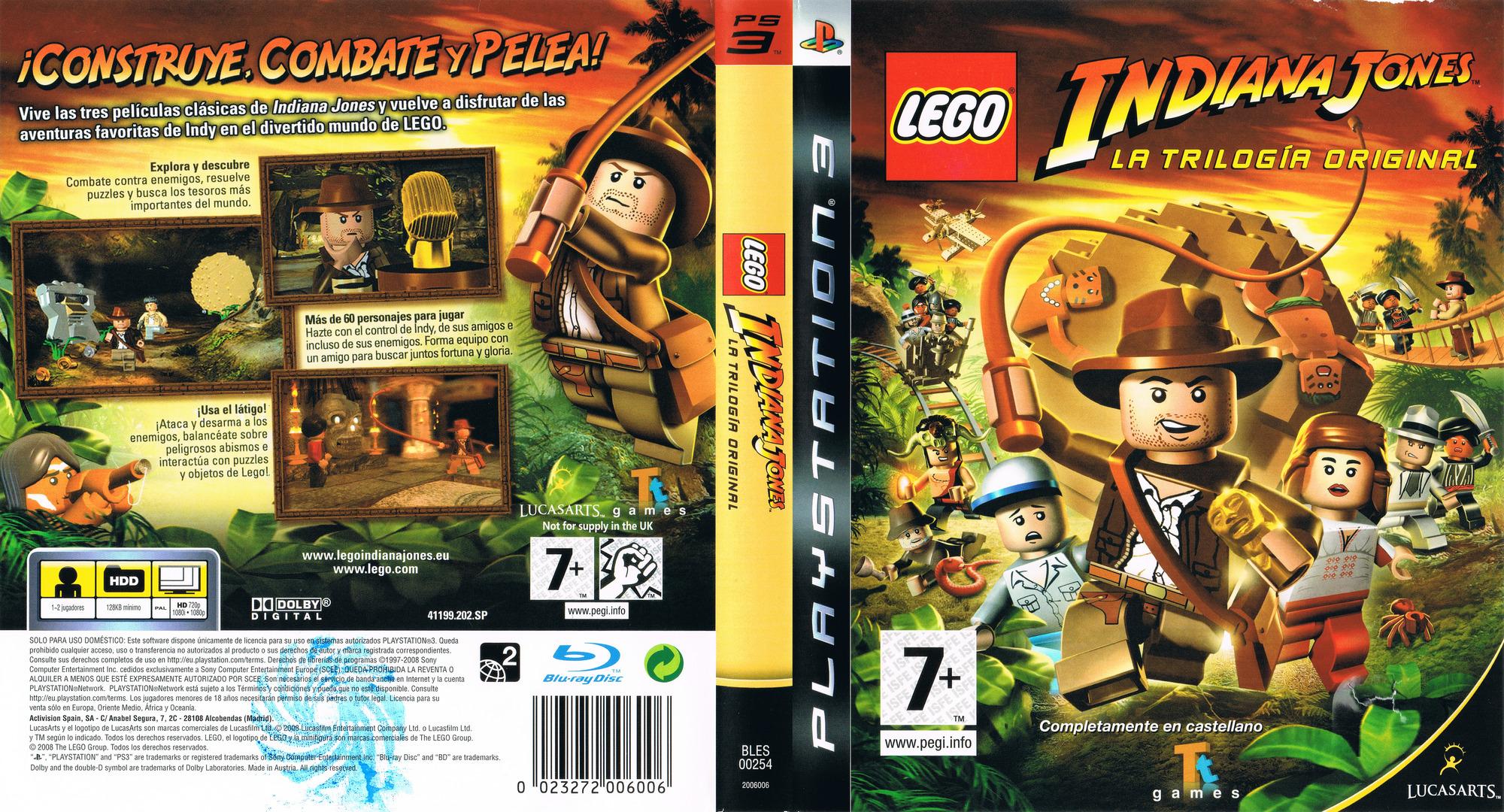 LEGO Indiana Jones: La Trilogía Original Array coverfullHQ (BLES00254)