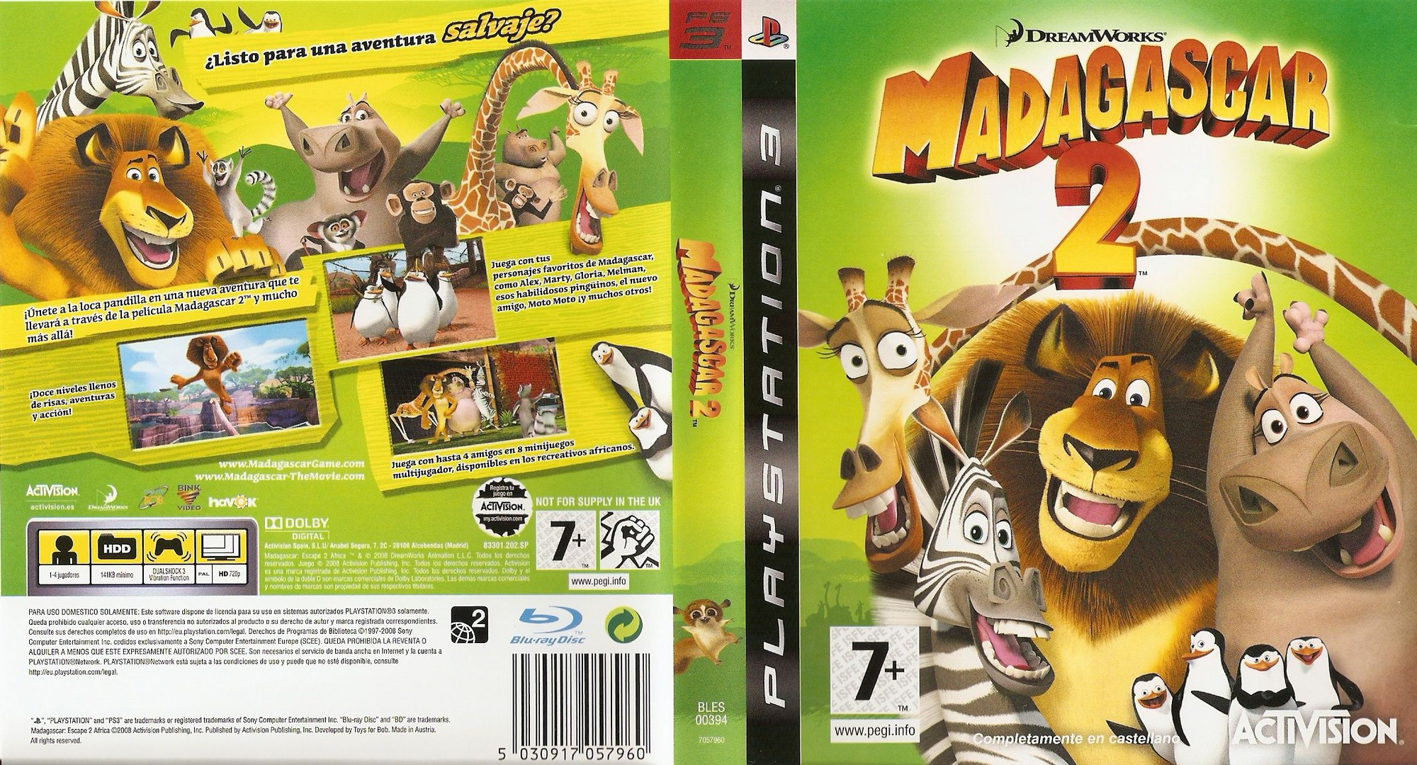 Madagascar 2 PS3 coverfullHQ (BLES00394)