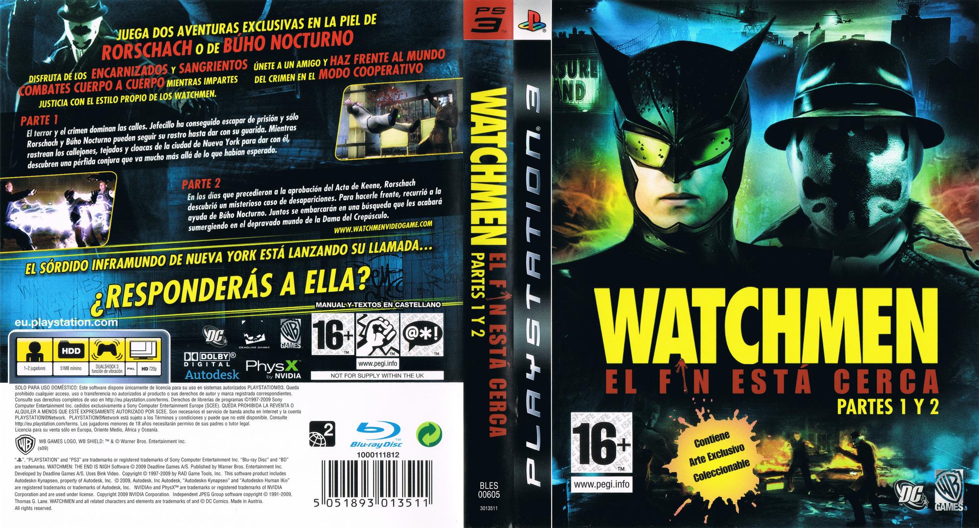 Watchmen: El Fin Está Cerca - Partes 1 y 2 PS3 coverfullHQ (BLES00605)