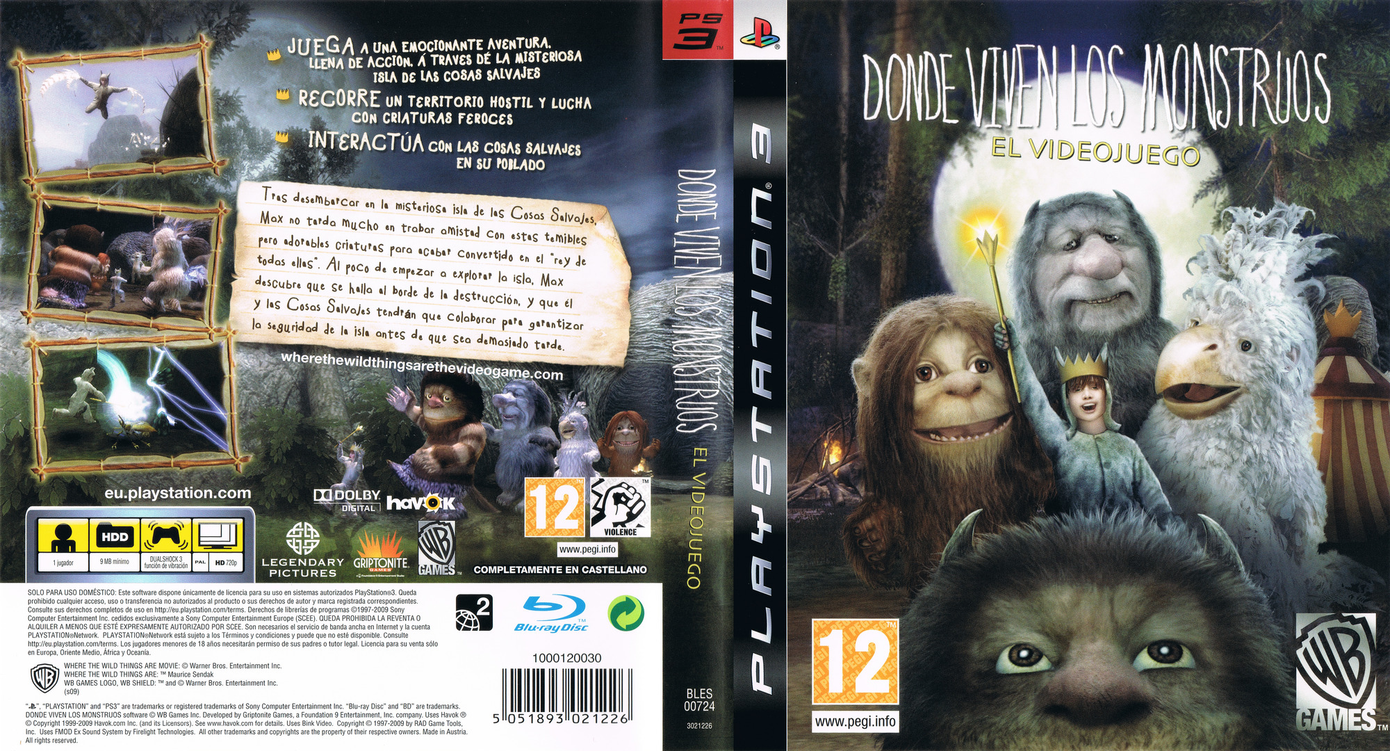 Donde viven los Monstruos PS3 coverfullHQ (BLES00724)