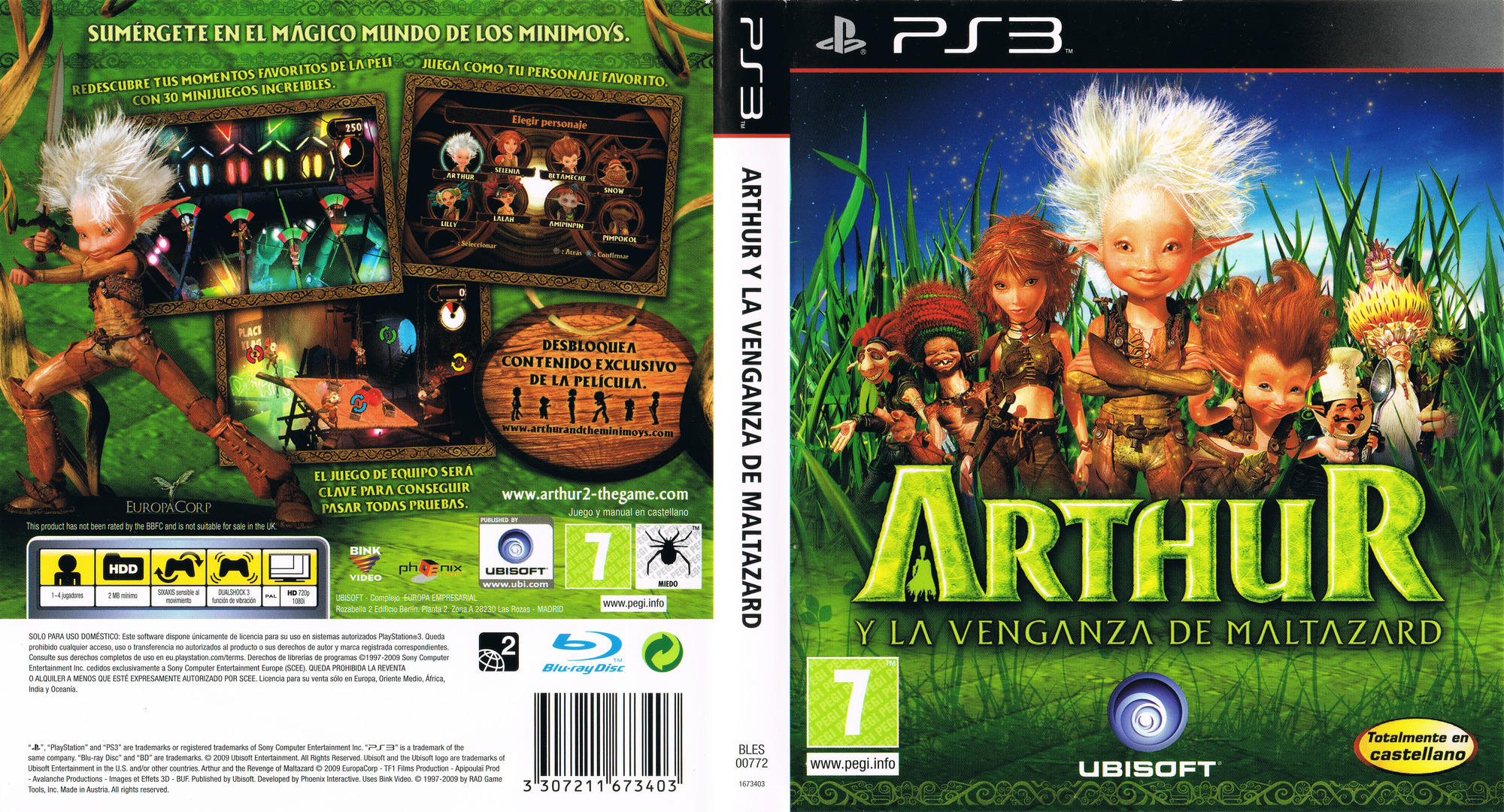 Arthur y la Venganza de Maltazard PS3 coverfullHQ (BLES00772)