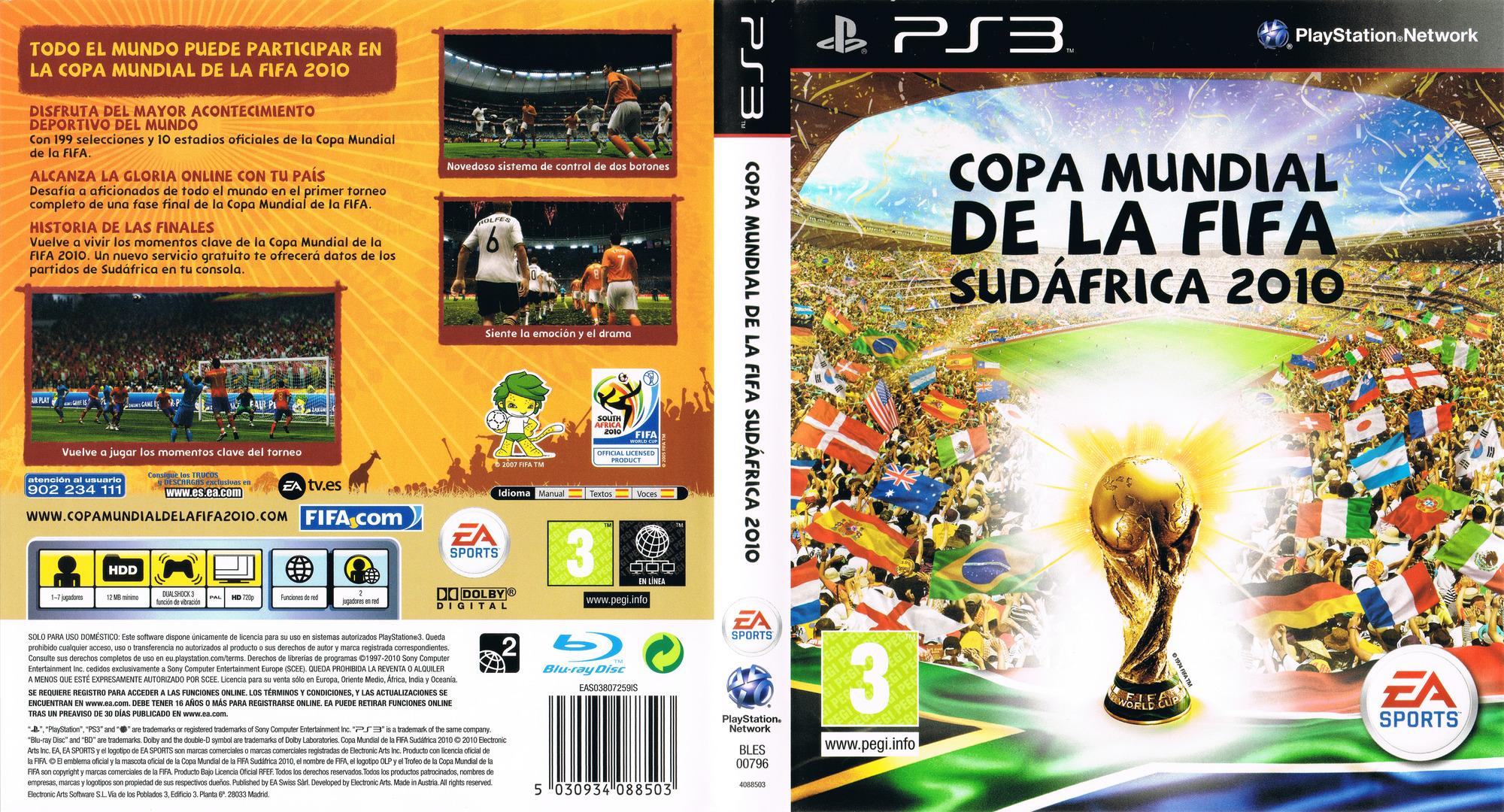 Copa Mundial de la Fifa Sudáfrica 2010 PS3 coverfullHQ (BLES00796)