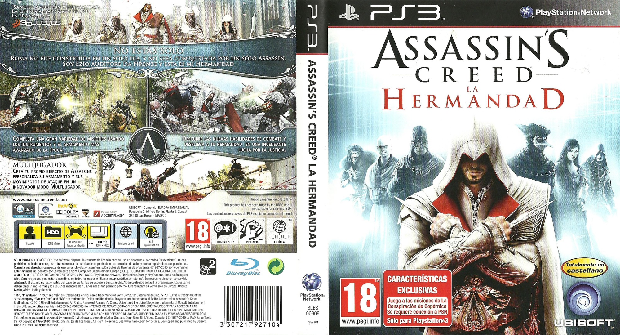 Assassin's Creed: La Hermandad PS3 coverfullHQ (BLES00909)