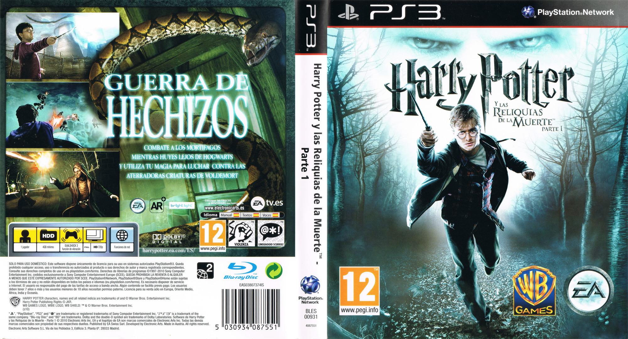 Harry Potter y Las Reliquias de la Muerte: Parte 1 PS3 coverfullHQ (BLES00931)