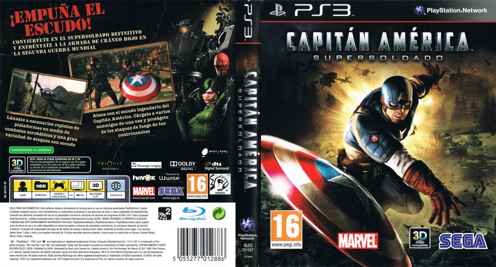 Capitán América: Super Soldado PS3 coverfullHQ (BLES01167)
