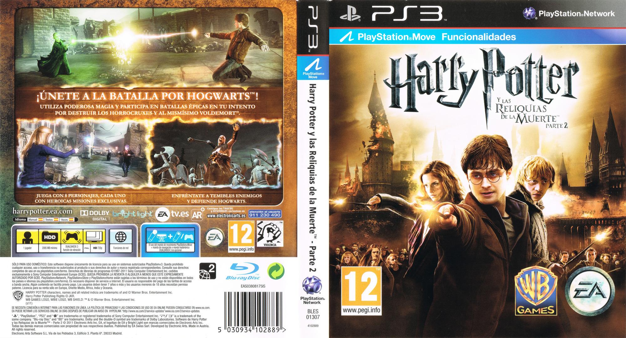 Harry Potter y Las Reliquias De La Muerte - Parte 2 PS3 coverfullHQ (BLES01307)