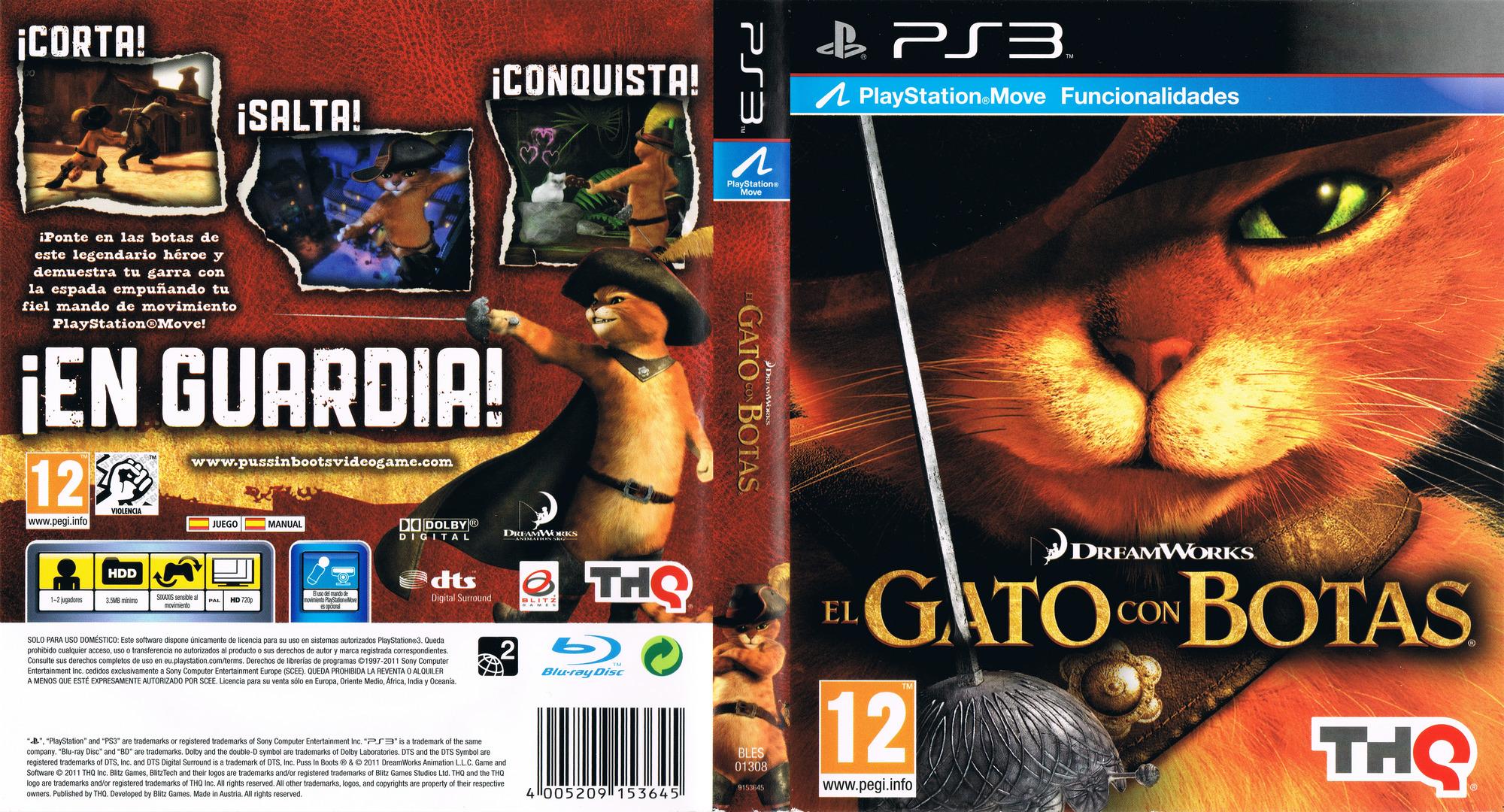 El Gato con Botas PS3 coverfullHQ (BLES01308)