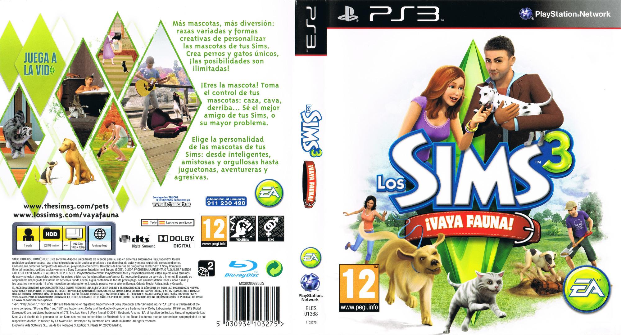 Los Sims 3: ¡Vaya Fauna! PS3 coverfullHQ (BLES01368)