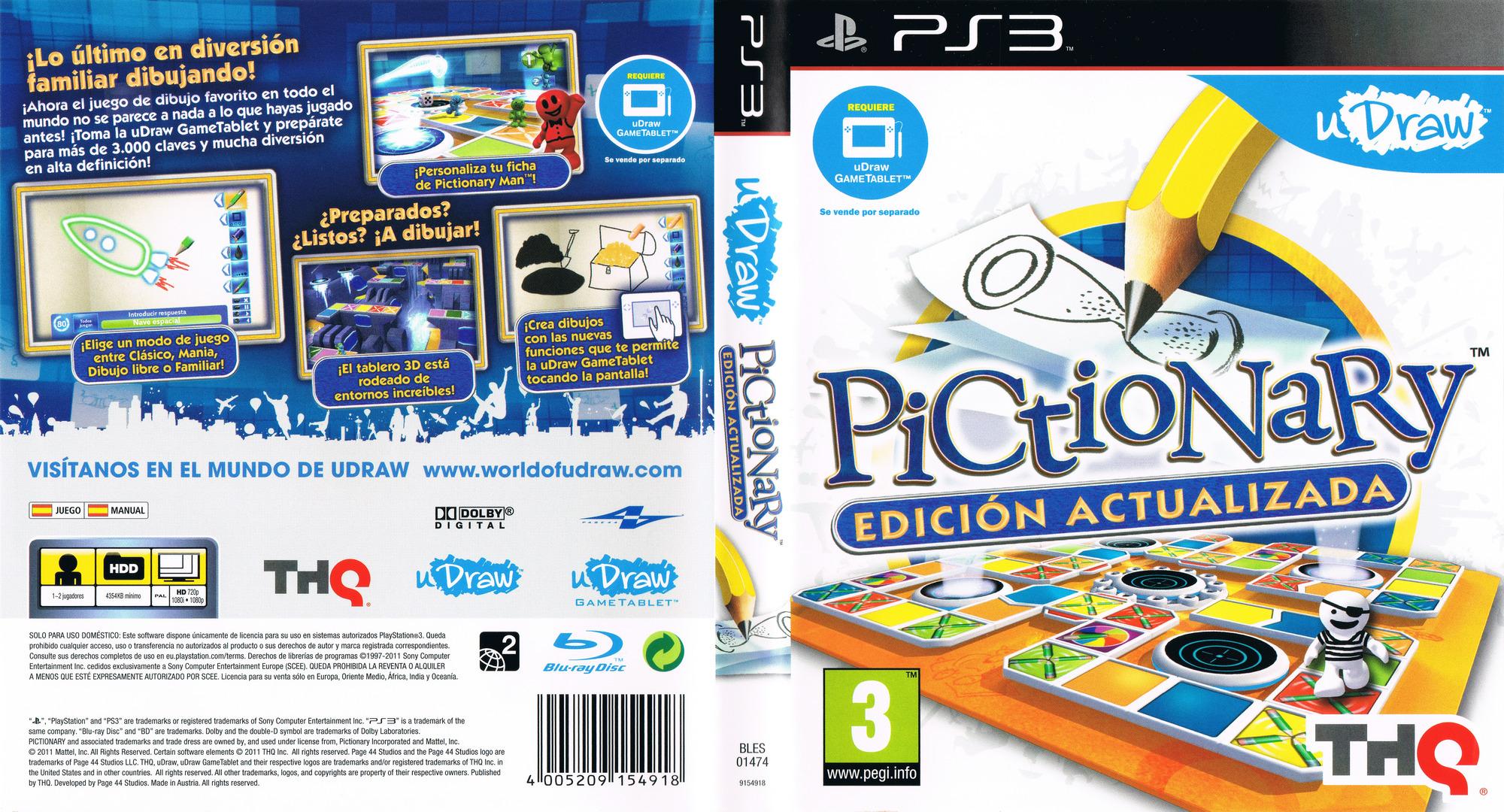 Pictionary: Edición Actualizada PS3 coverfullHQ (BLES01474)