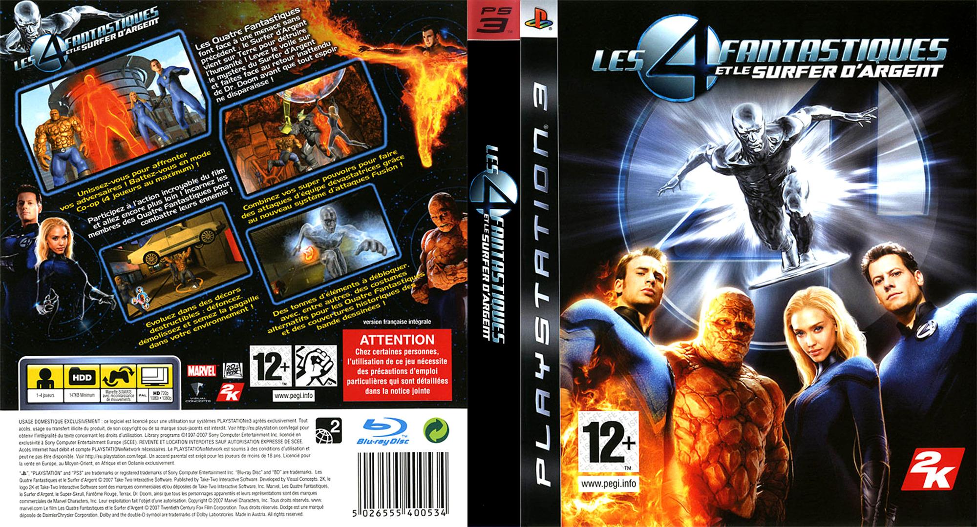 Les 4 Fantastiques et le Surfer d'Argent PS3 coverfullHQ (BLES00075)