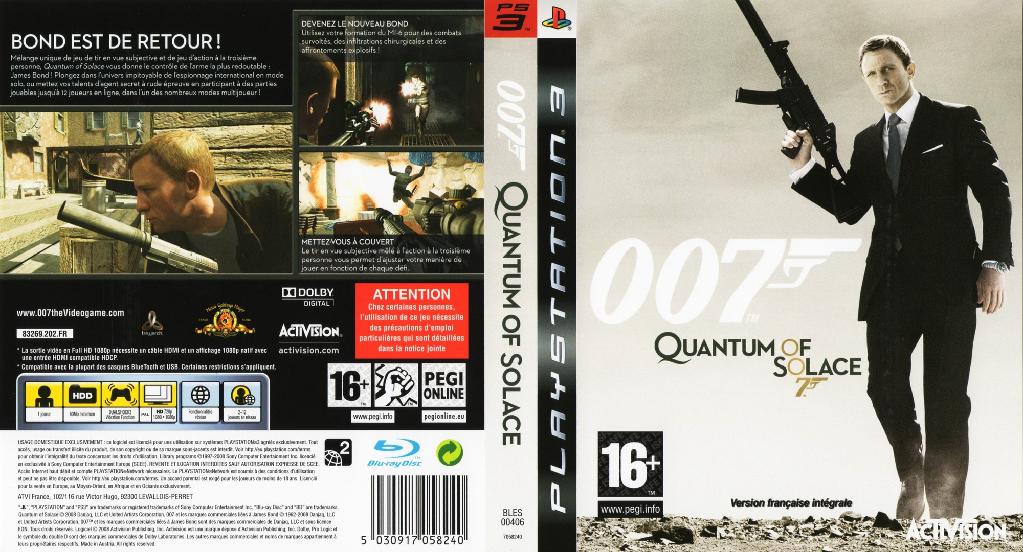 007 : Quantum of Solace PS3 coverfullHQ (BLES00406)