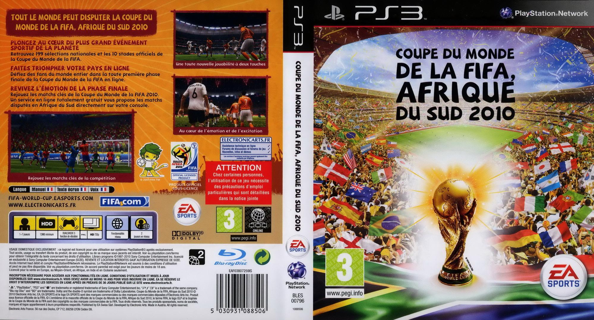 Coupe du Monde de la FIFA:Afrique du Sud 2010 PS3 coverfullHQ (BLES00796)