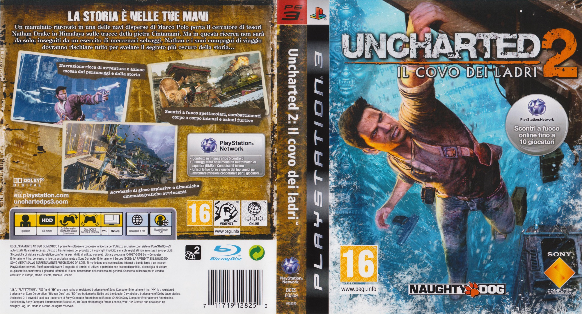 Uncharted 2: Il covo dei ladri PS3 coverfullHQ (BCES00509)