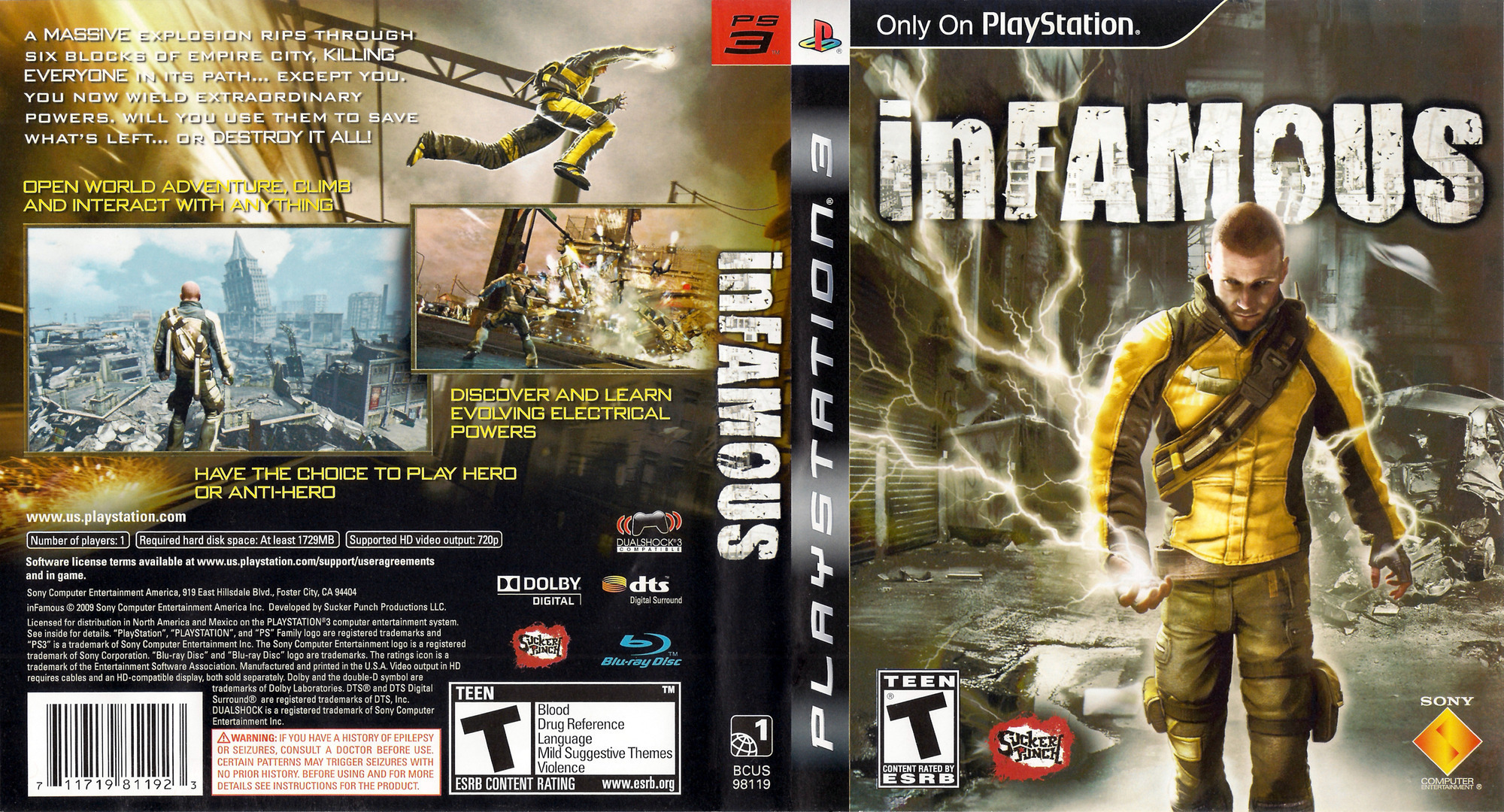 inFamous (Greatest Hits) Array coverfullHQ (BCUS98119)
