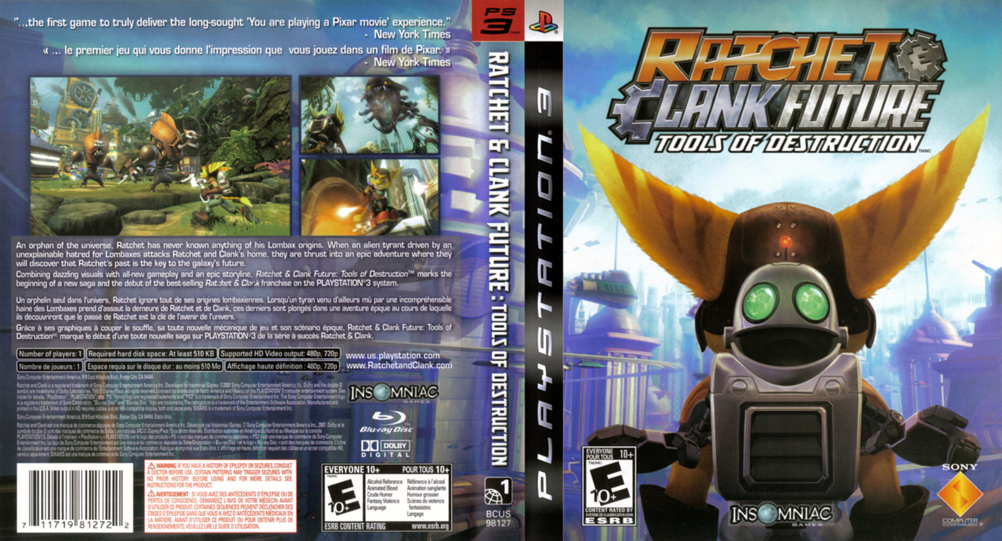 Ratchet & Clank: Future - Tools of Destruction PS3 coverfullHQ (BCUS98127)