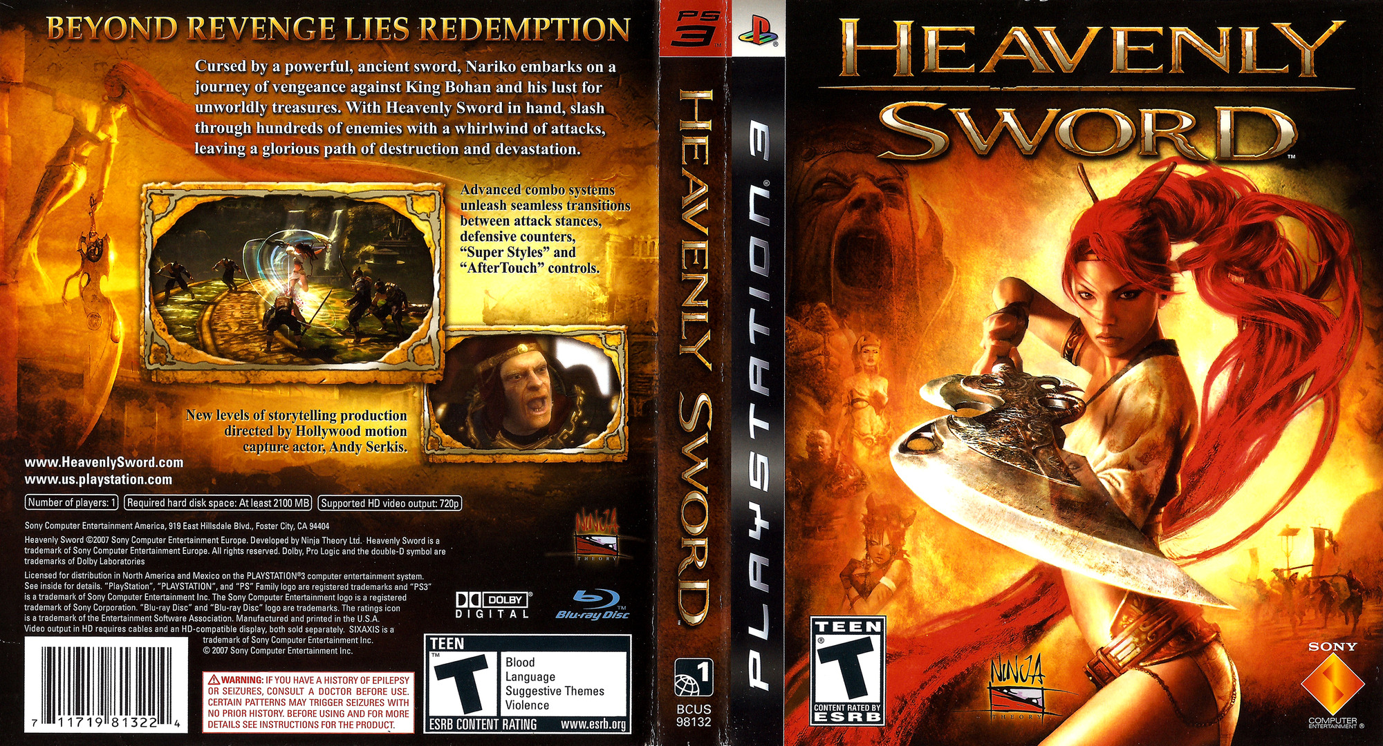 Heavenly Sword PS3 coverfullHQ (BCUS98132)