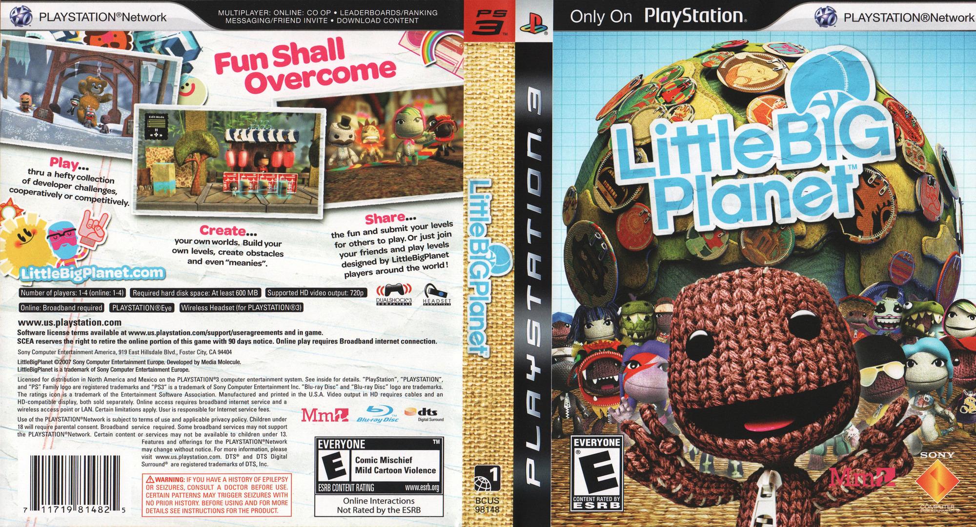 LittleBigPlanet PS3 coverfullHQ (BCUS98148)