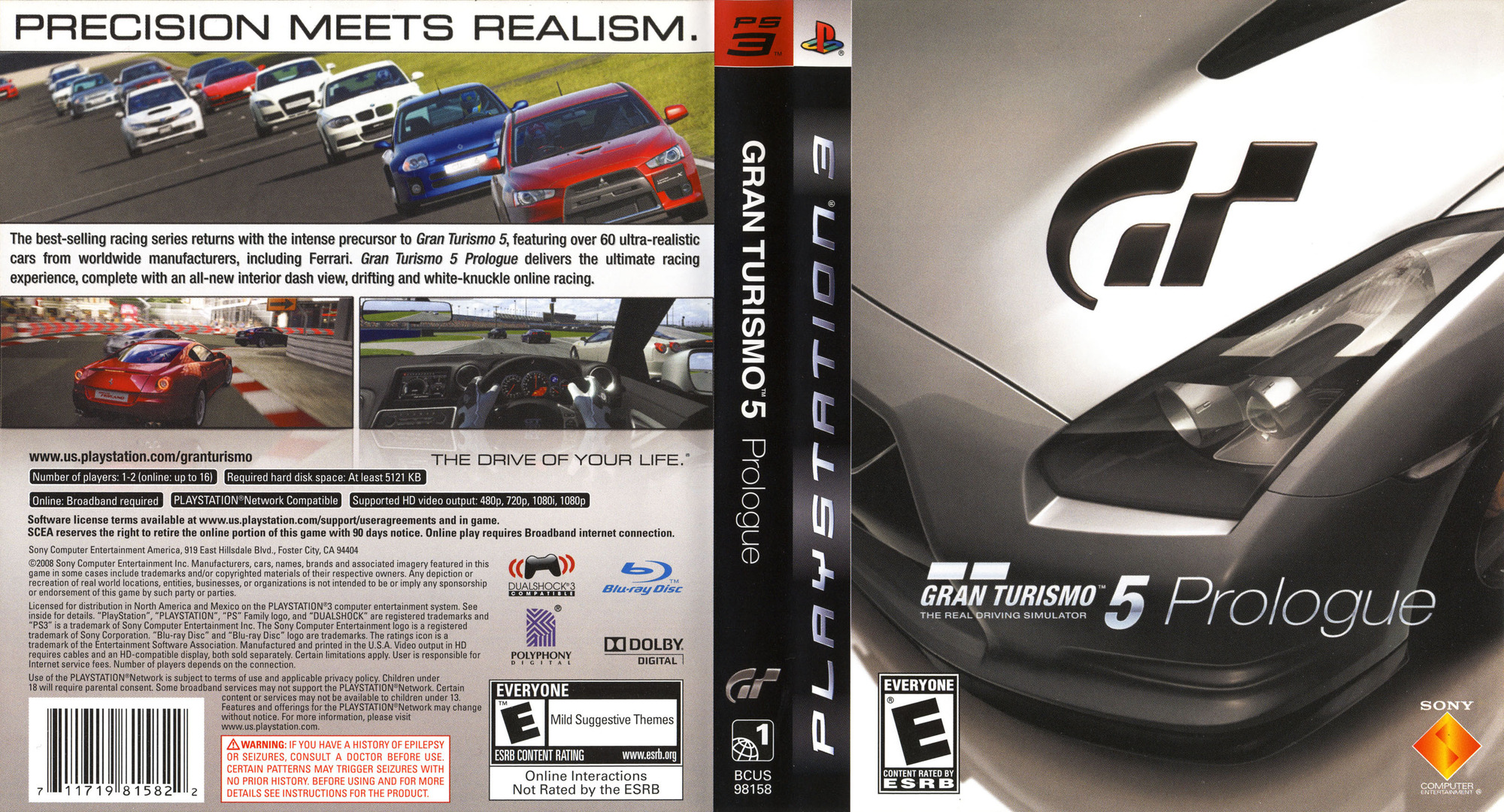 Gran Turismo 5: Prologue PS3 coverfullHQ (BCUS98158)