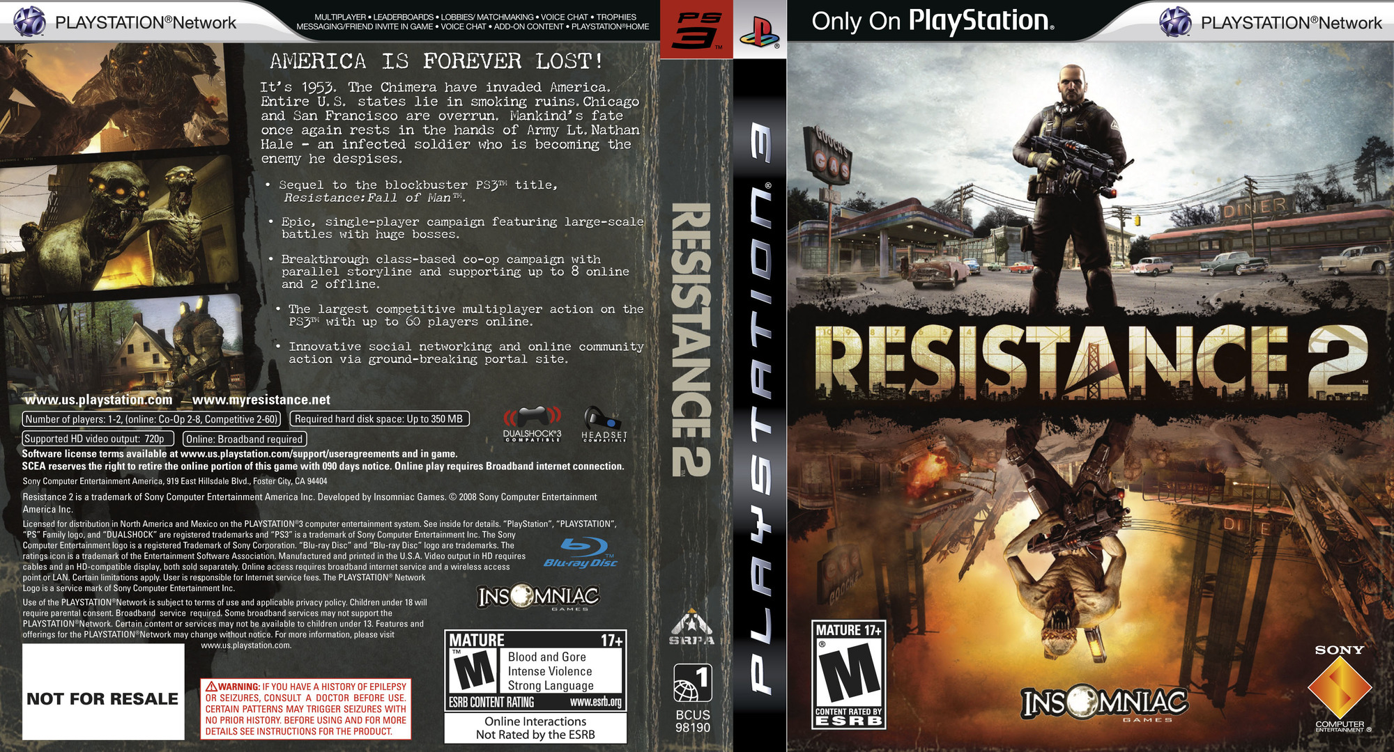 Resistance 2 (Collector's Edition) PS3 coverfullHQ (BCUS98190)