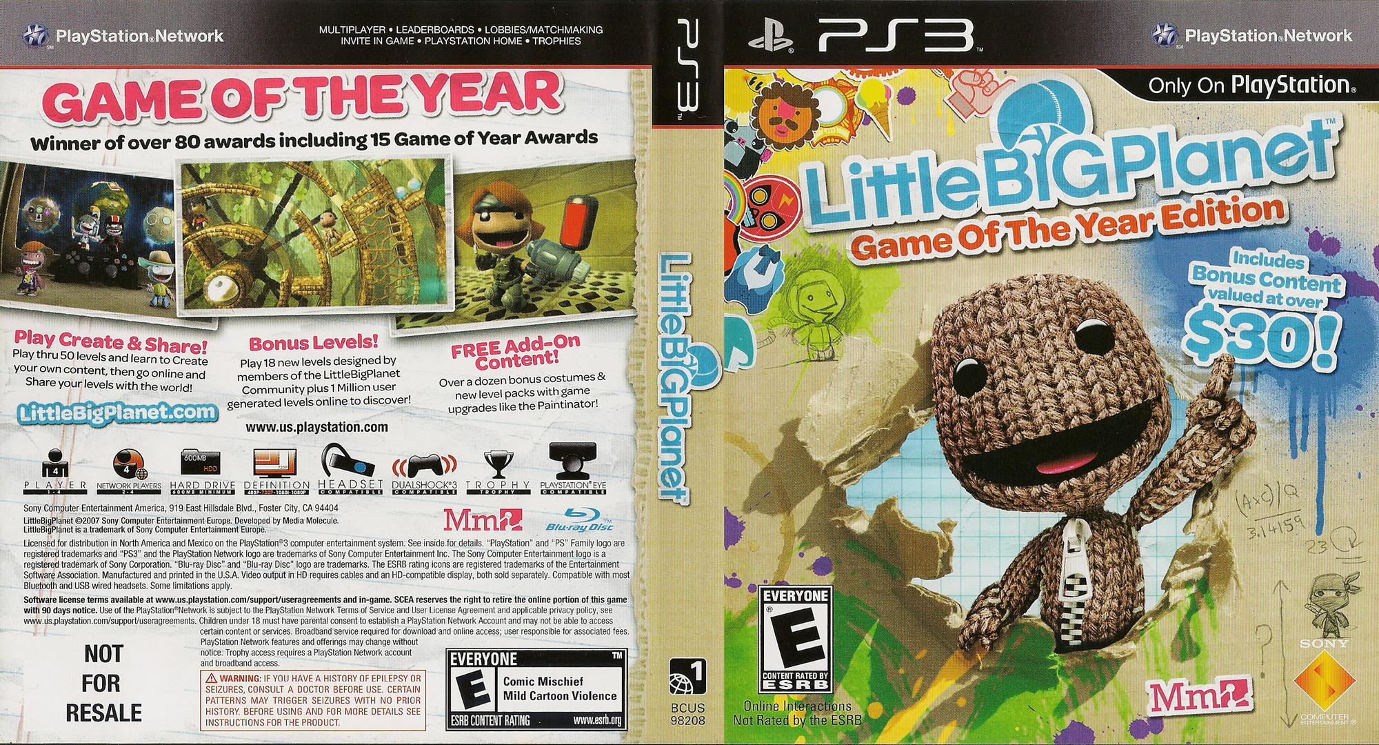 LittleBigPlanet (Game of the Year Edition) Array coverfullHQ (BCUS98208)