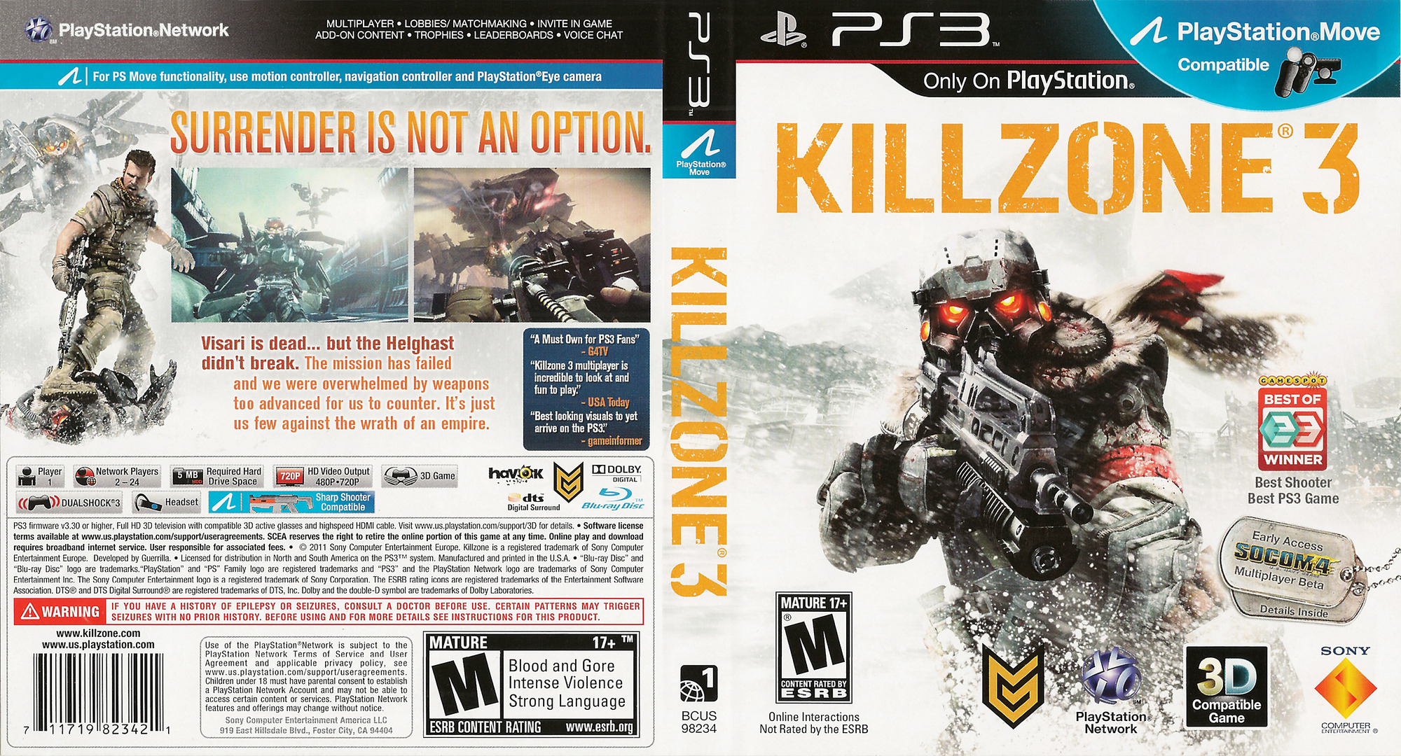 Killzone 3 PS3 coverfullHQ (BCUS98234)