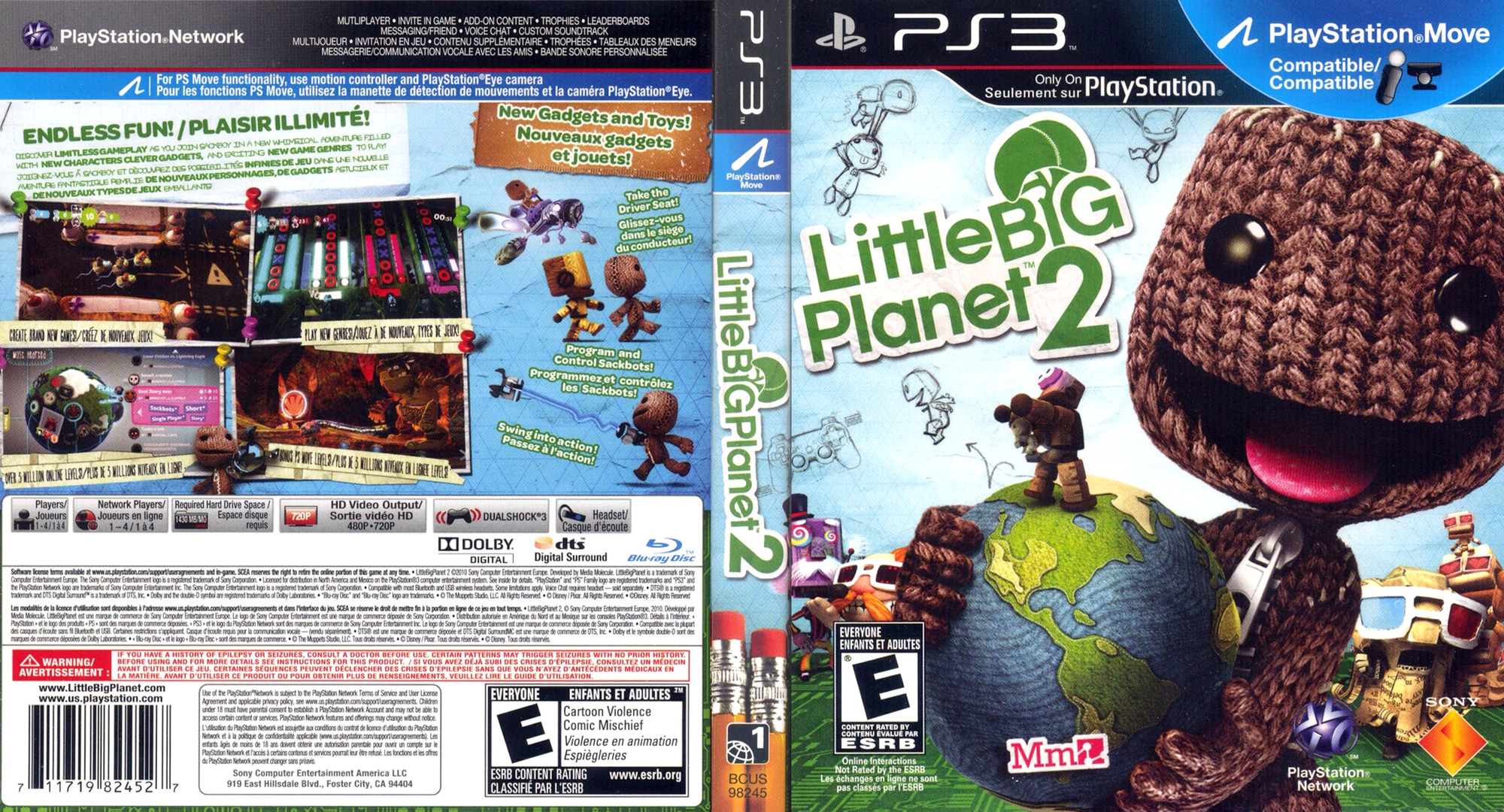 LittleBigPlanet 2 PS3 coverfullHQ (BCUS98245)