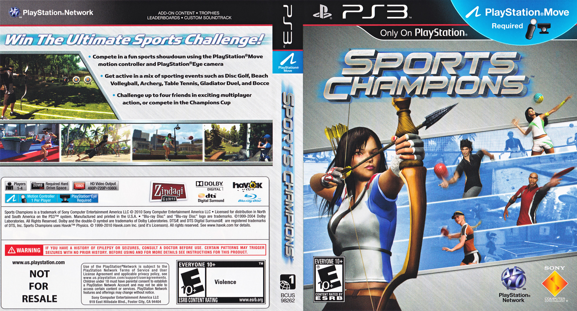 Sports Champions (Bundle) PS3 coverfullHQ (BCUS98262)