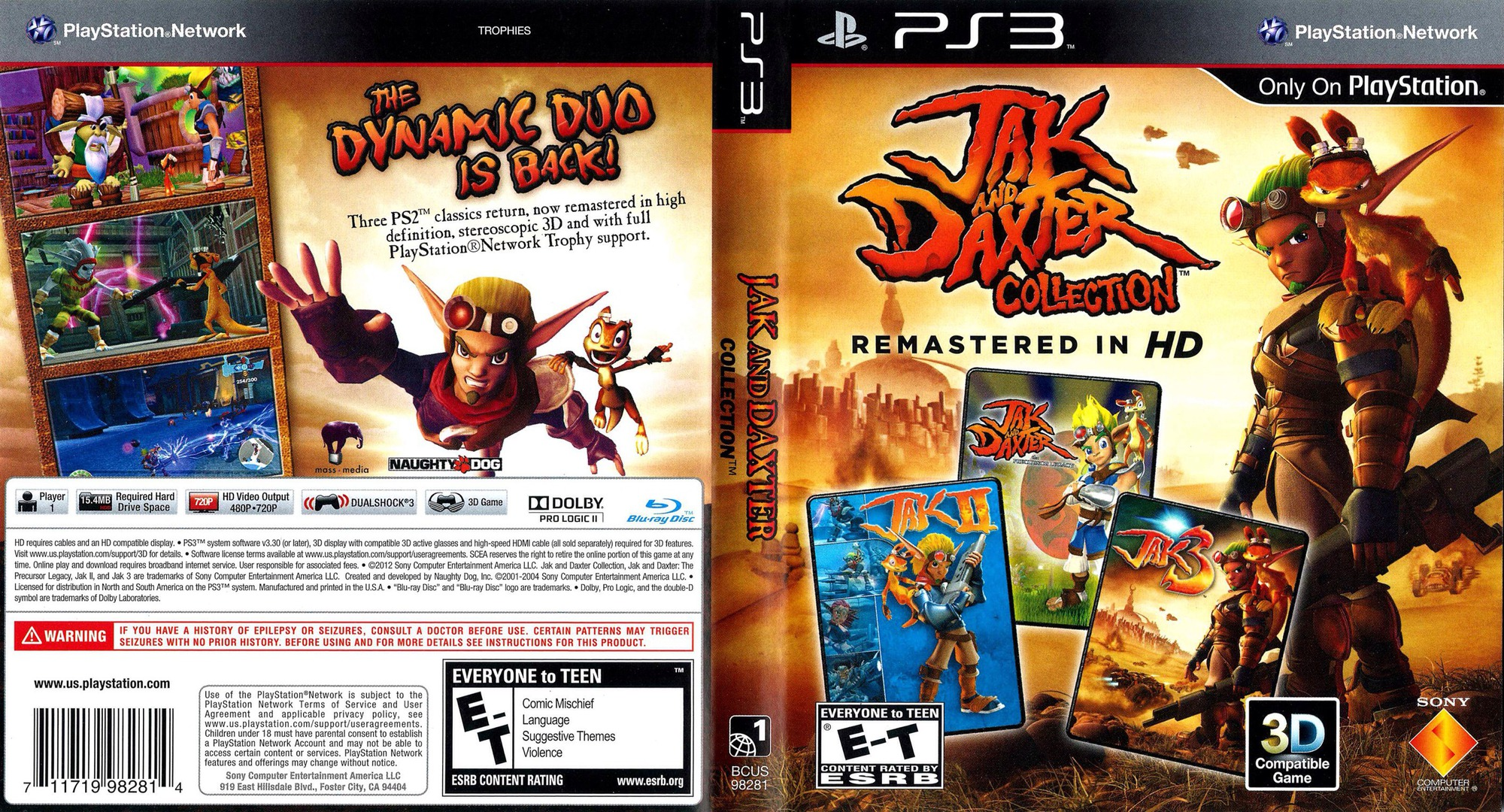 Jak & Daxter  Collection PS3 coverfullHQ (BCUS98281)