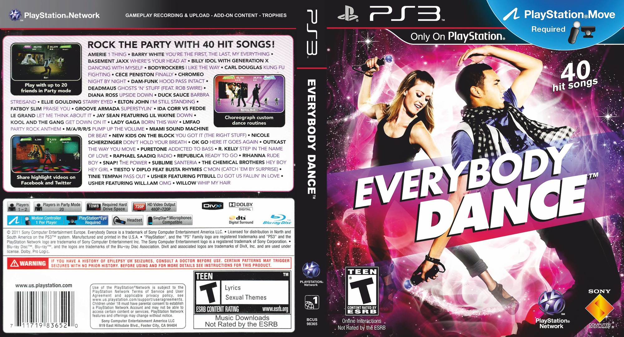 Everybody Dance PS3 coverfullHQ (BCUS98365)