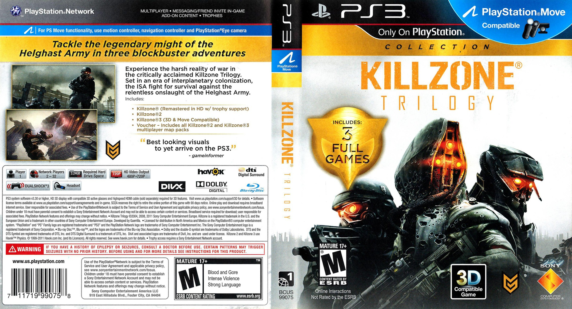 Killzone Trilogy PS3 coverfullHQ (BCUS99075)
