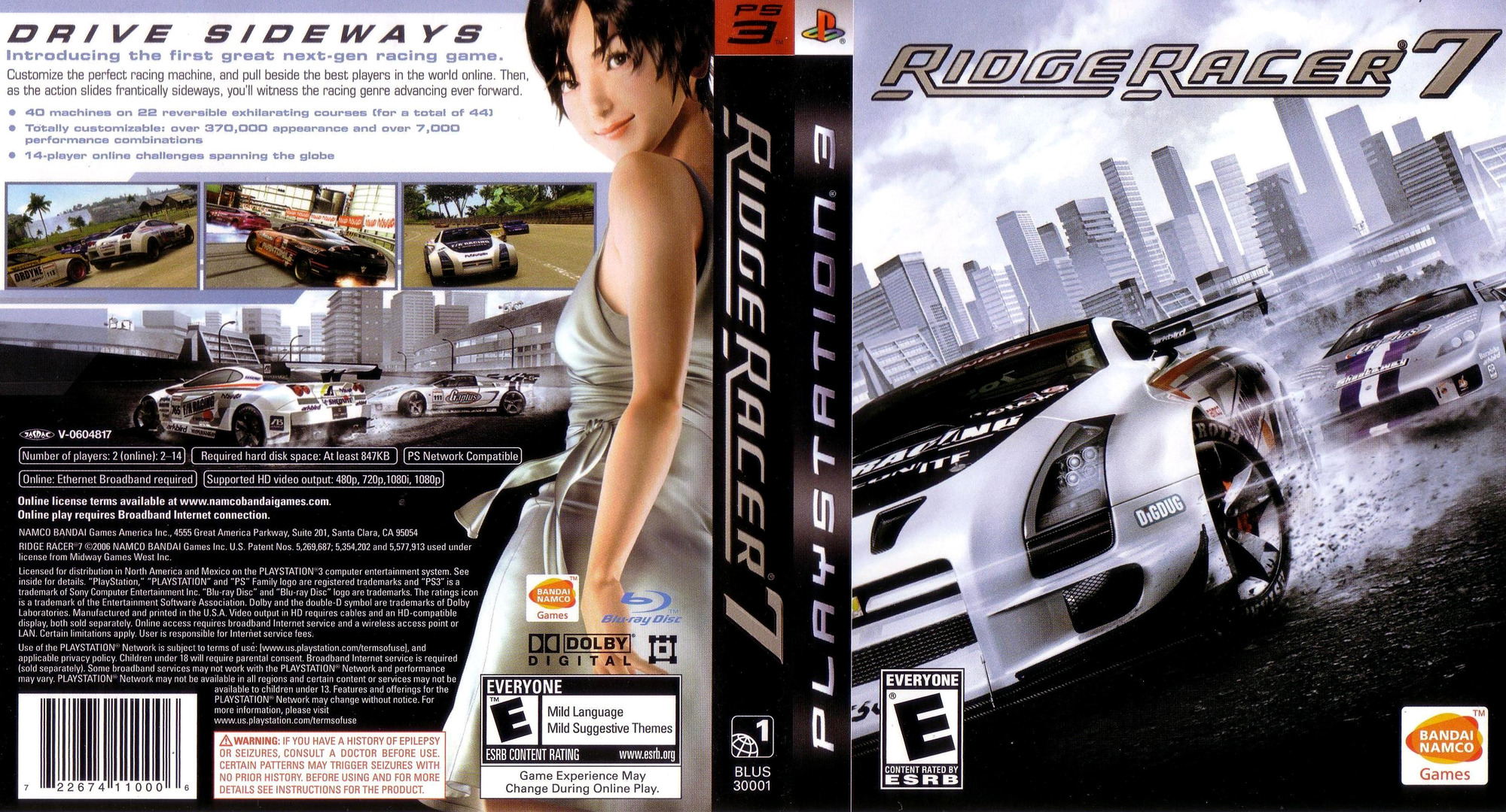 Ridge Racer 7 PS3 coverfullHQ (BLUS30001)
