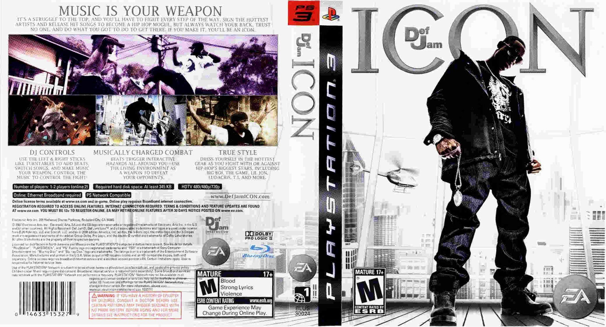 Def Jam: Icon PS3 coverfullHQ (BLUS30024)