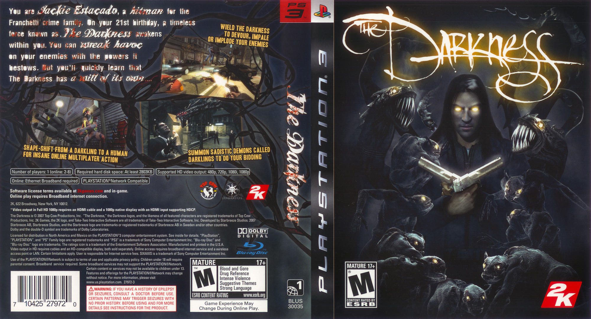 The Darkness PS3 coverfullHQ (BLUS30035)