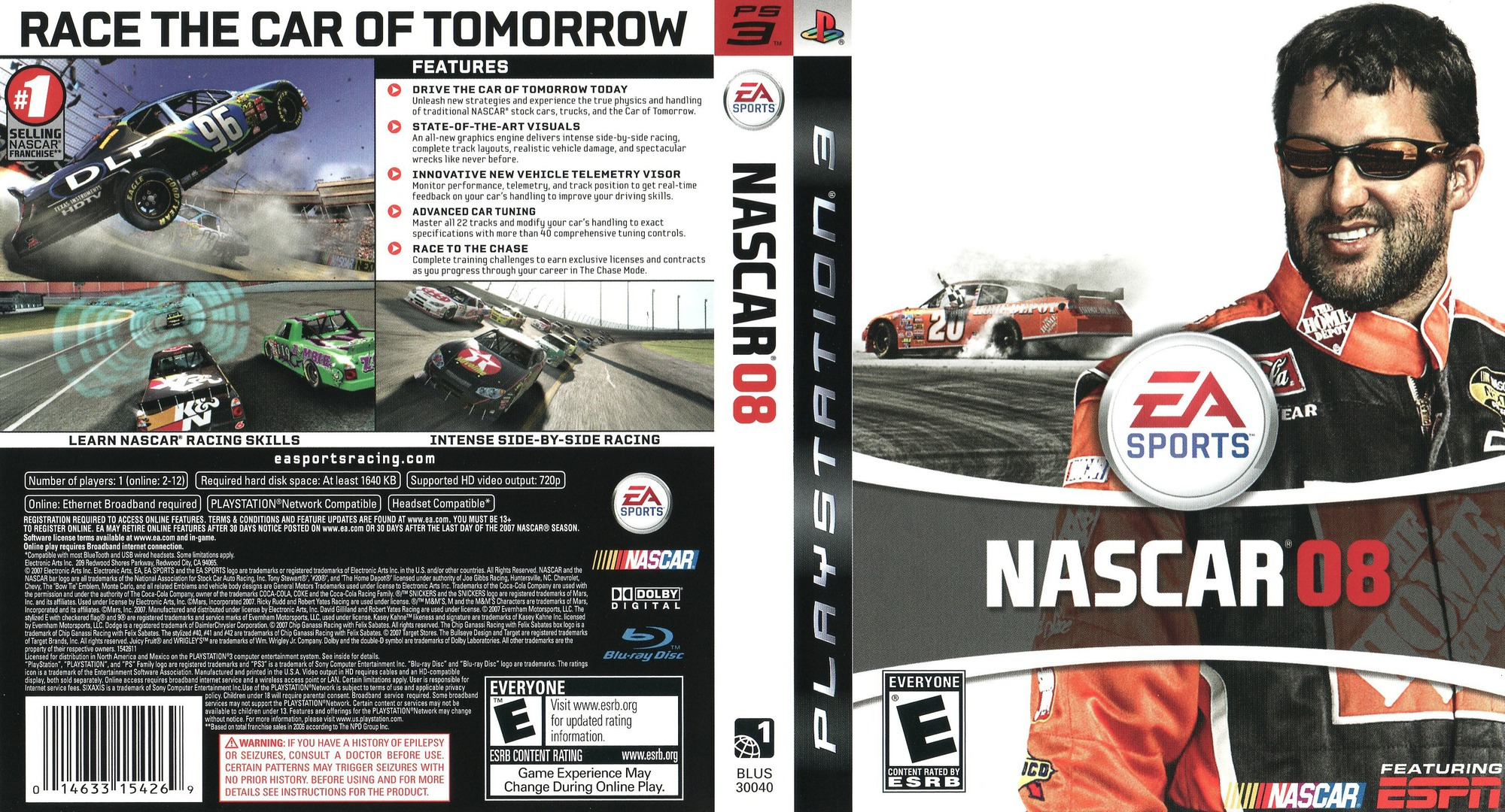 NASCAR '08 PS3 coverfullHQ (BLUS30040)