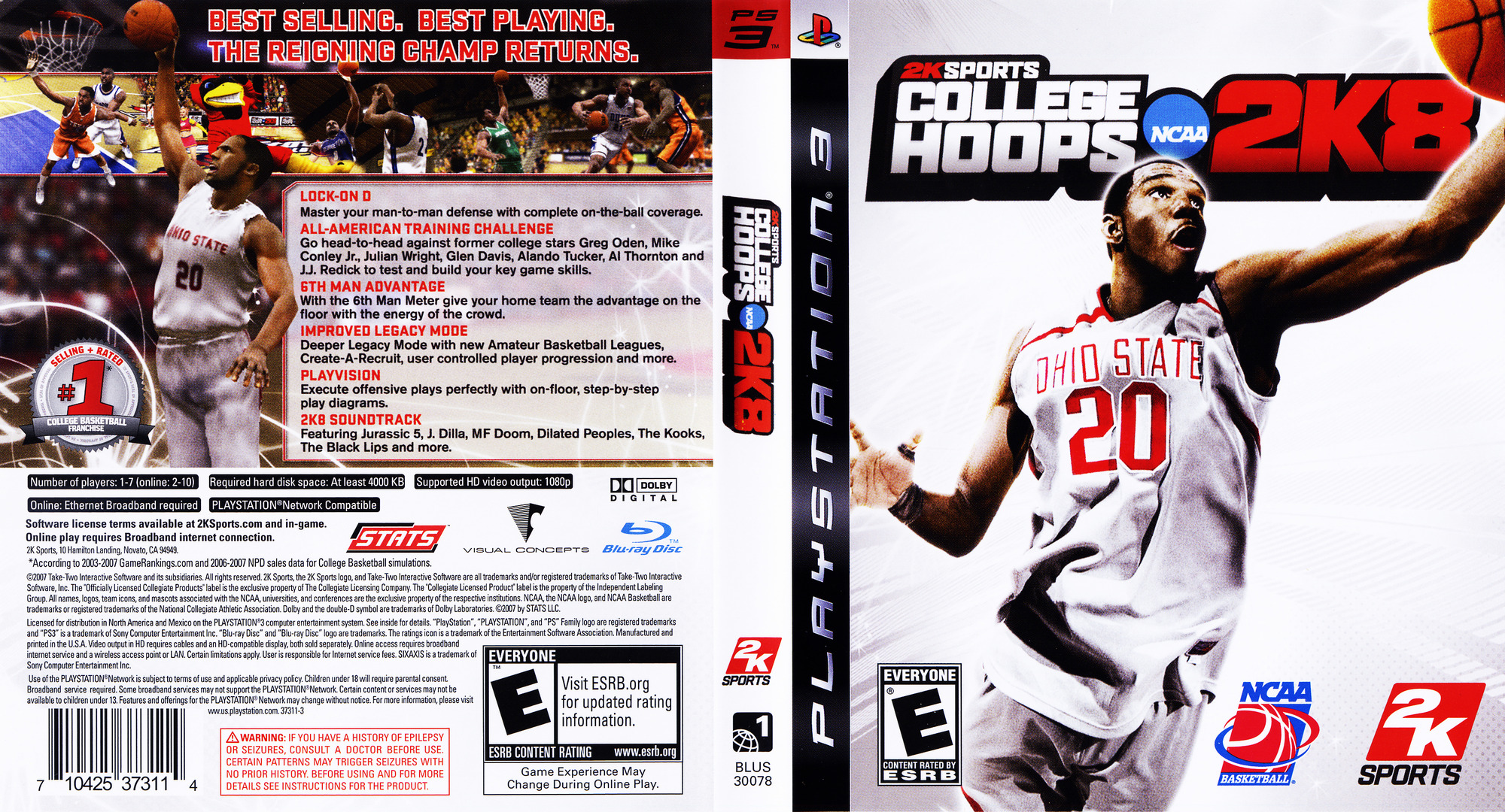 College Hoops 2K8 PS3 coverfullHQ (BLUS30078)
