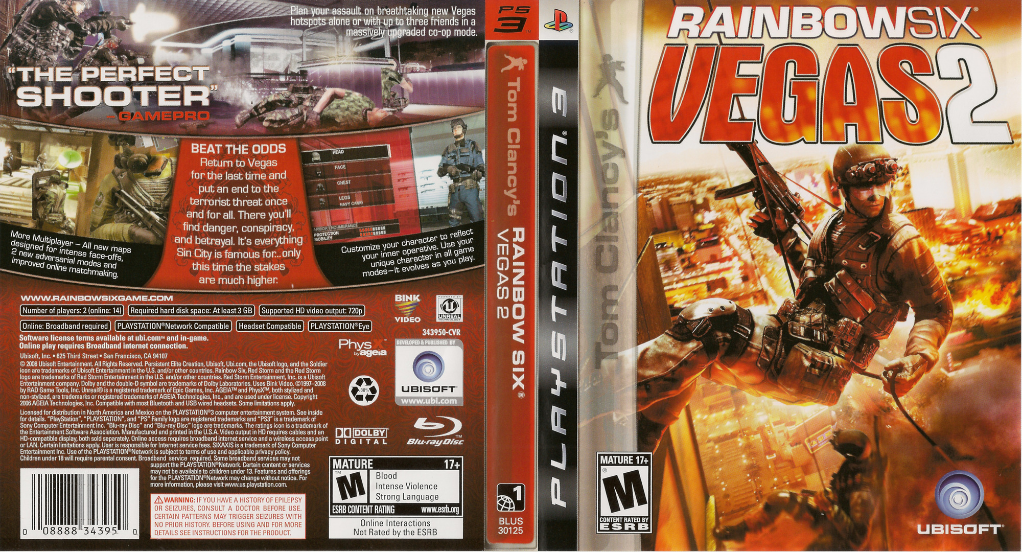 Tom Clancy's Rainbow Six: Vegas 2 PS3 coverfullHQ (BLUS30125)