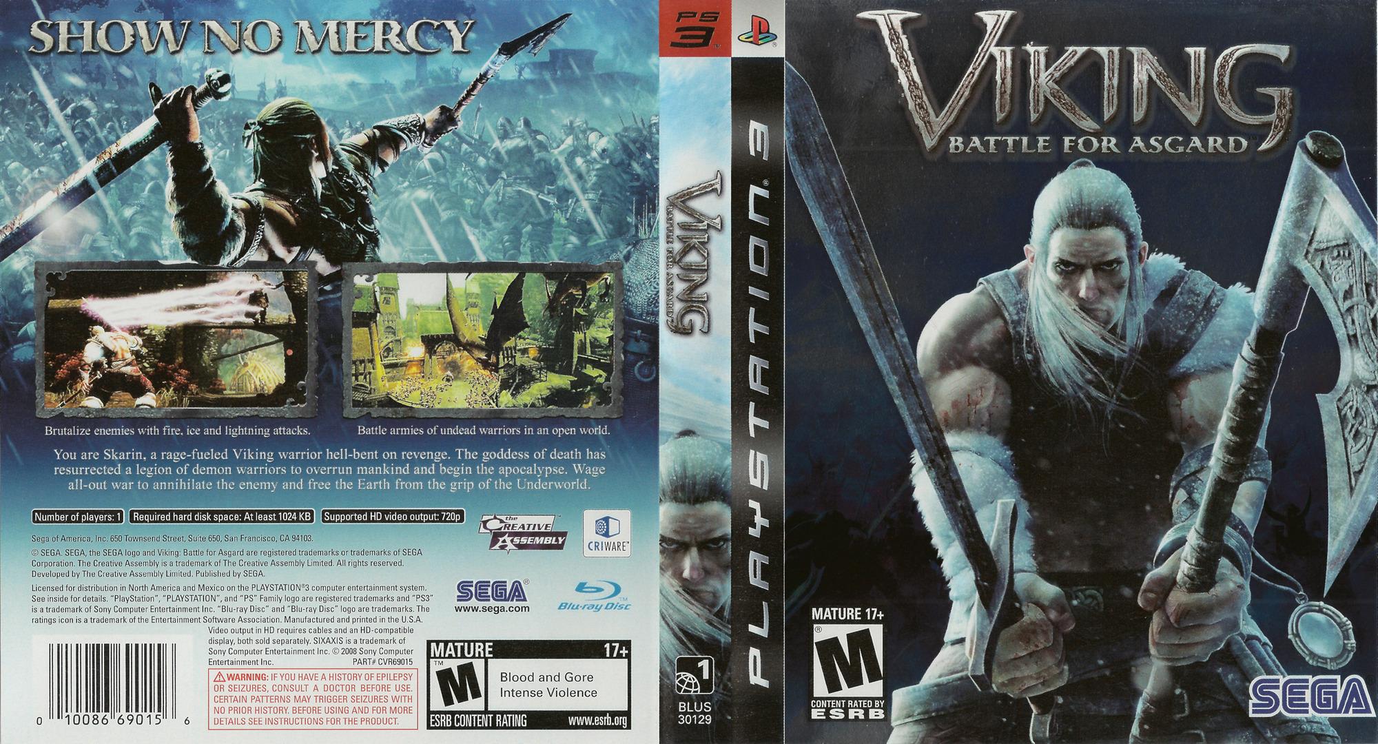 Viking: Battle for Asgard PS3 coverfullHQ (BLUS30129)